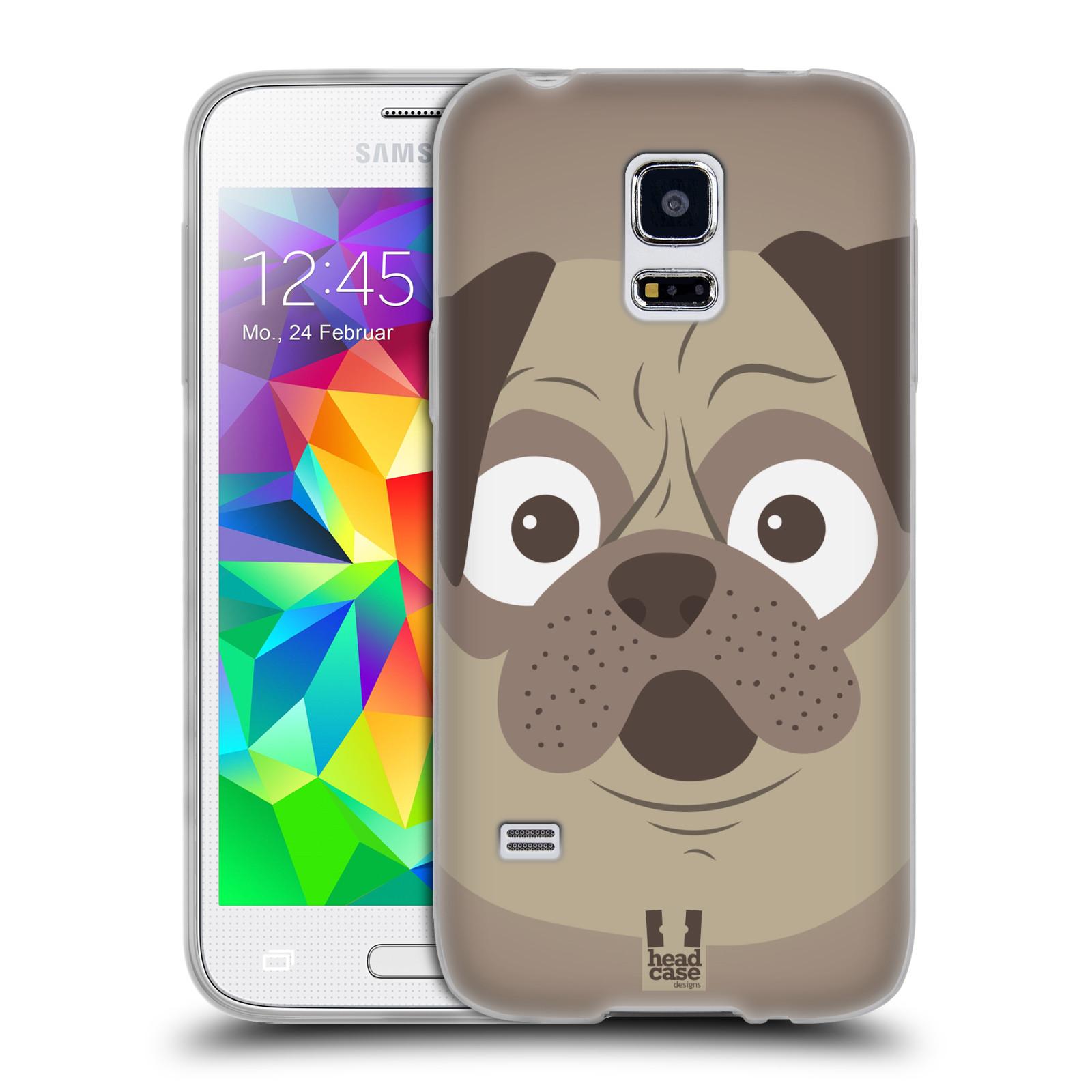 HEAD CASE silikonový obal na mobil Samsung Galaxy S5 MINI vzor Cartoon Karikatura barevná kreslená zvířátka pes mopsík
