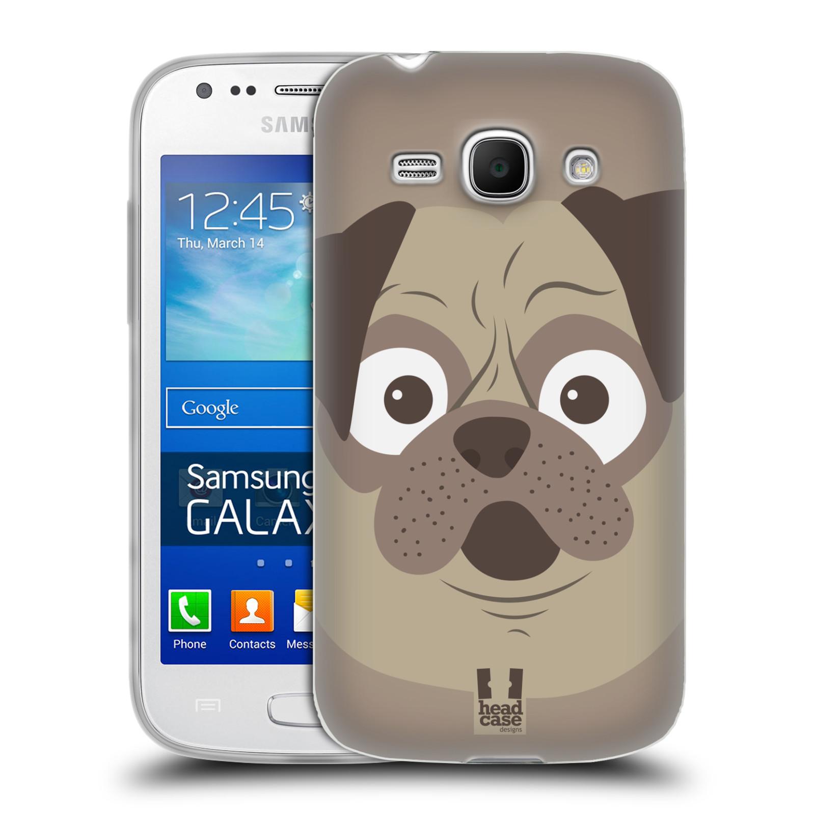 HEAD CASE silikonový obal na mobil Samsung Galaxy Ace 3 vzor Cartoon Karikatura barevná kreslená zvířátka pes mopsík