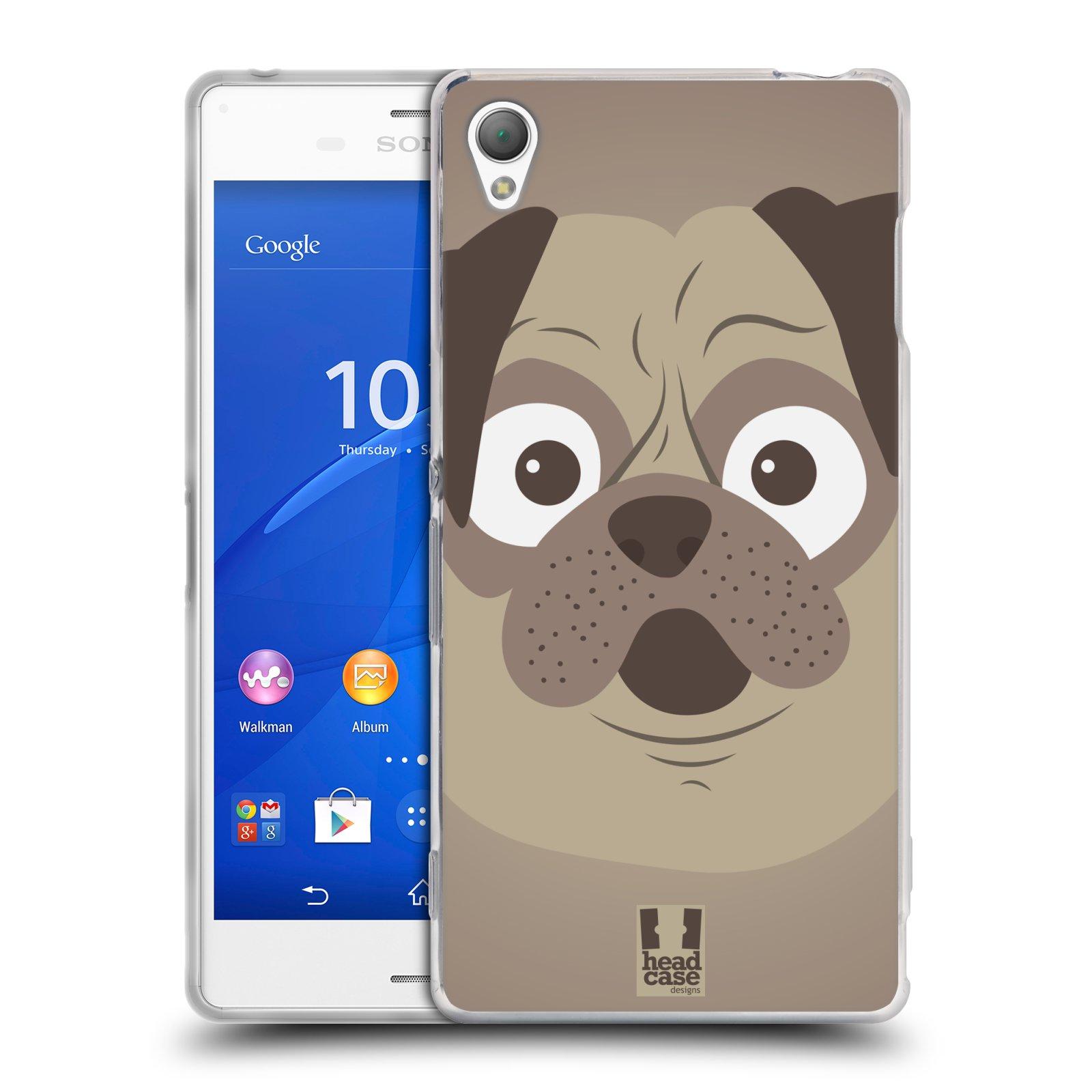 HEAD CASE silikonový obal na mobil Sony Xperia Z3 vzor Cartoon Karikatura barevná kreslená zvířátka pes mopsík
