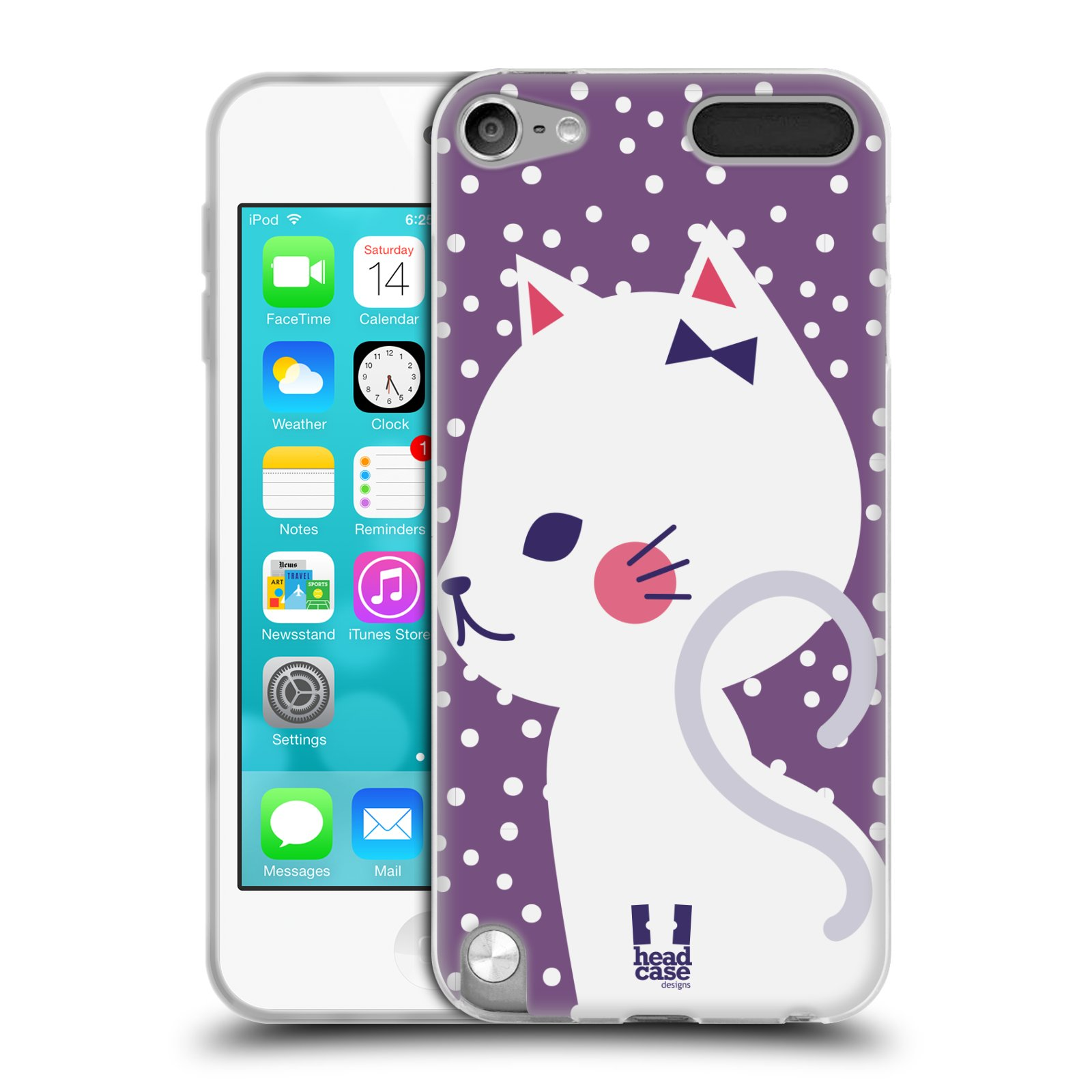 head case cats and dots soft gel case for apple ipod touch 6g 6th gen ebay. Black Bedroom Furniture Sets. Home Design Ideas