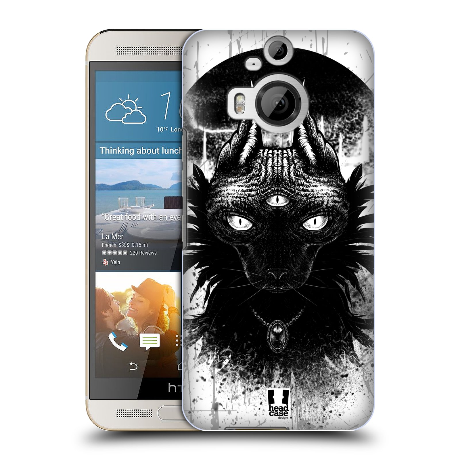 HEAD CASE DESIGNS CATS OF GOTH HARD BACK CASE FOR HTC PHONES 2