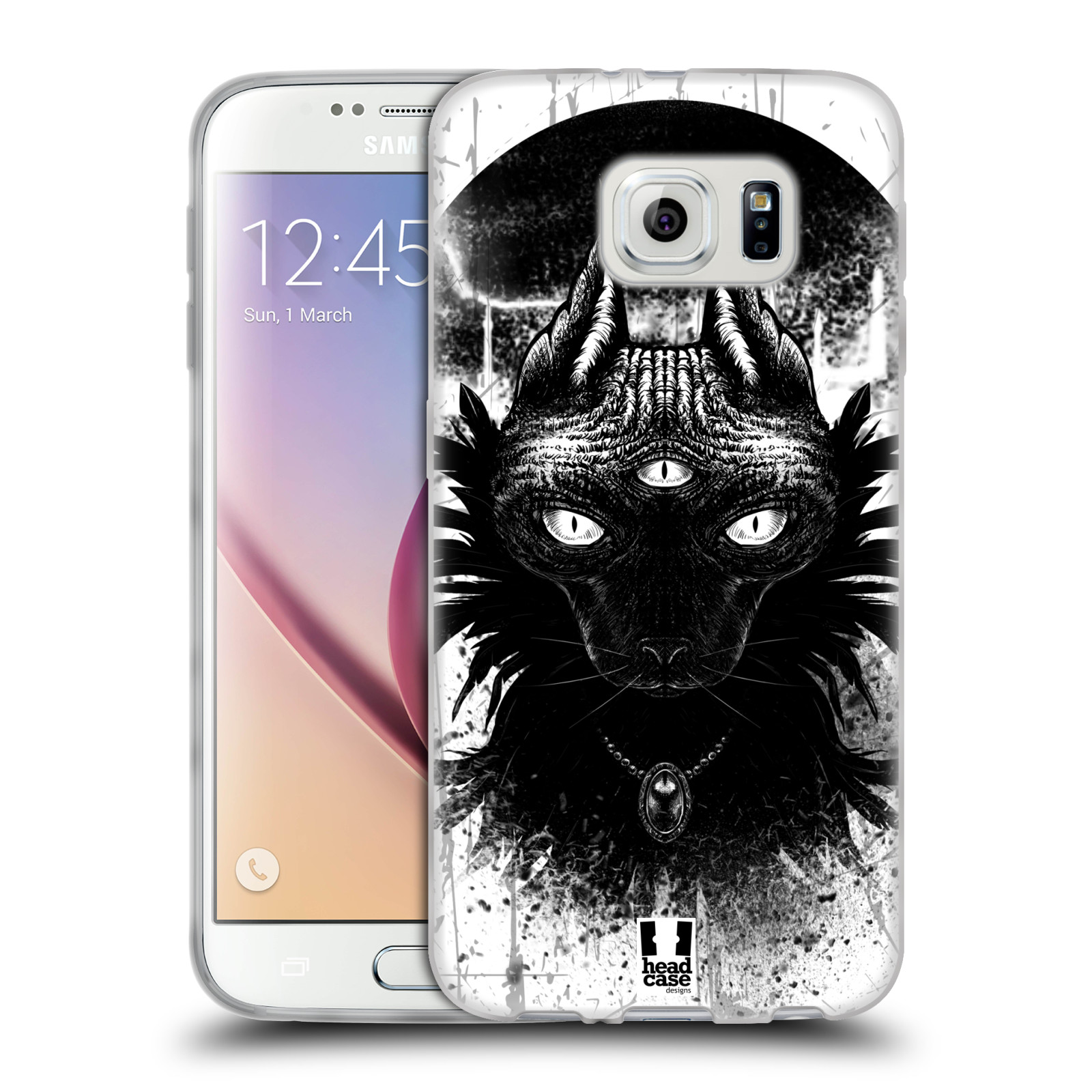 HEAD CASE CATS OF GOTH SILICONE GEL CASE FOR SAMSUNG GALAXY S6 G920
