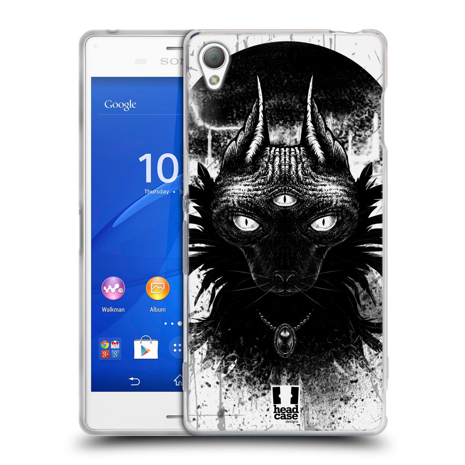 HEAD CASE silikonový obal na mobil Sony Xperia Z3 vzor Gotická kočka třetí oko