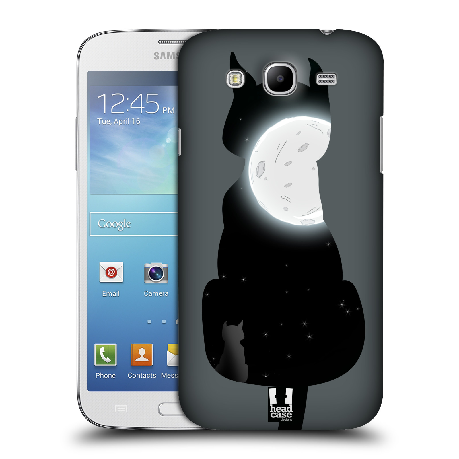 Head case designs cat and moon hard back case for samsung for Case design