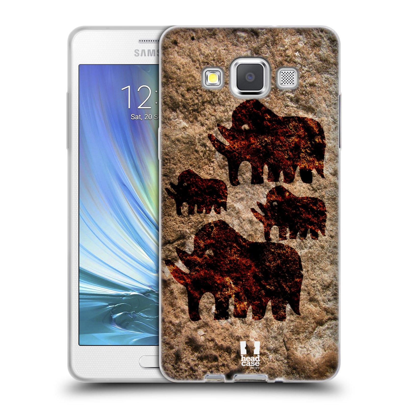 HEAD CASE silikonový obal na mobil Samsung Galaxy A5 vzor Pravěké malby MAMUT