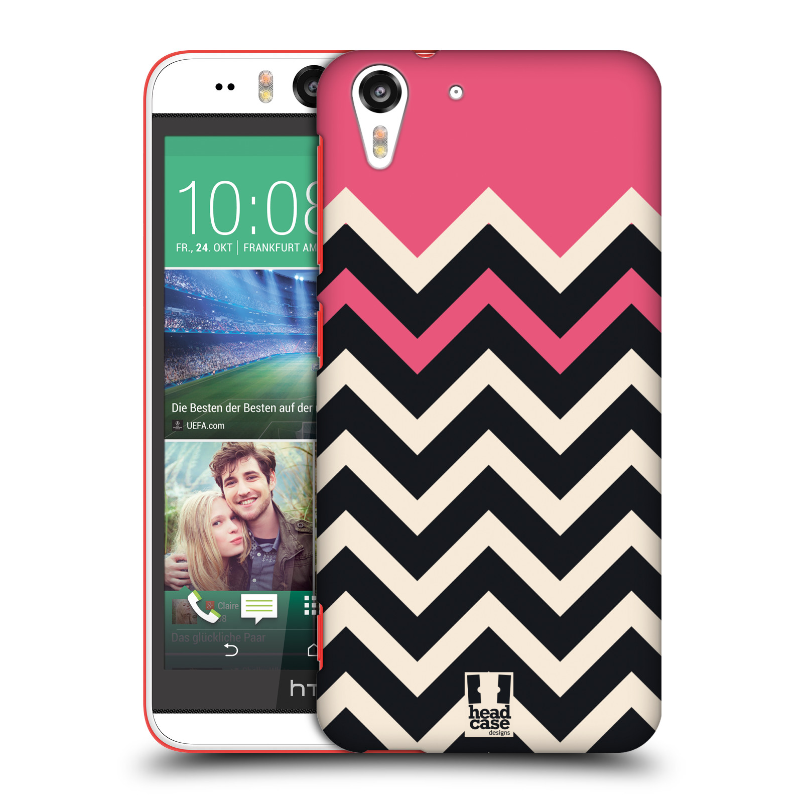 HEAD CASE DESIGNS COLOUR BLOCK CHEVRON HARD BACK CASE FOR HTC DESIRE EYE LTE
