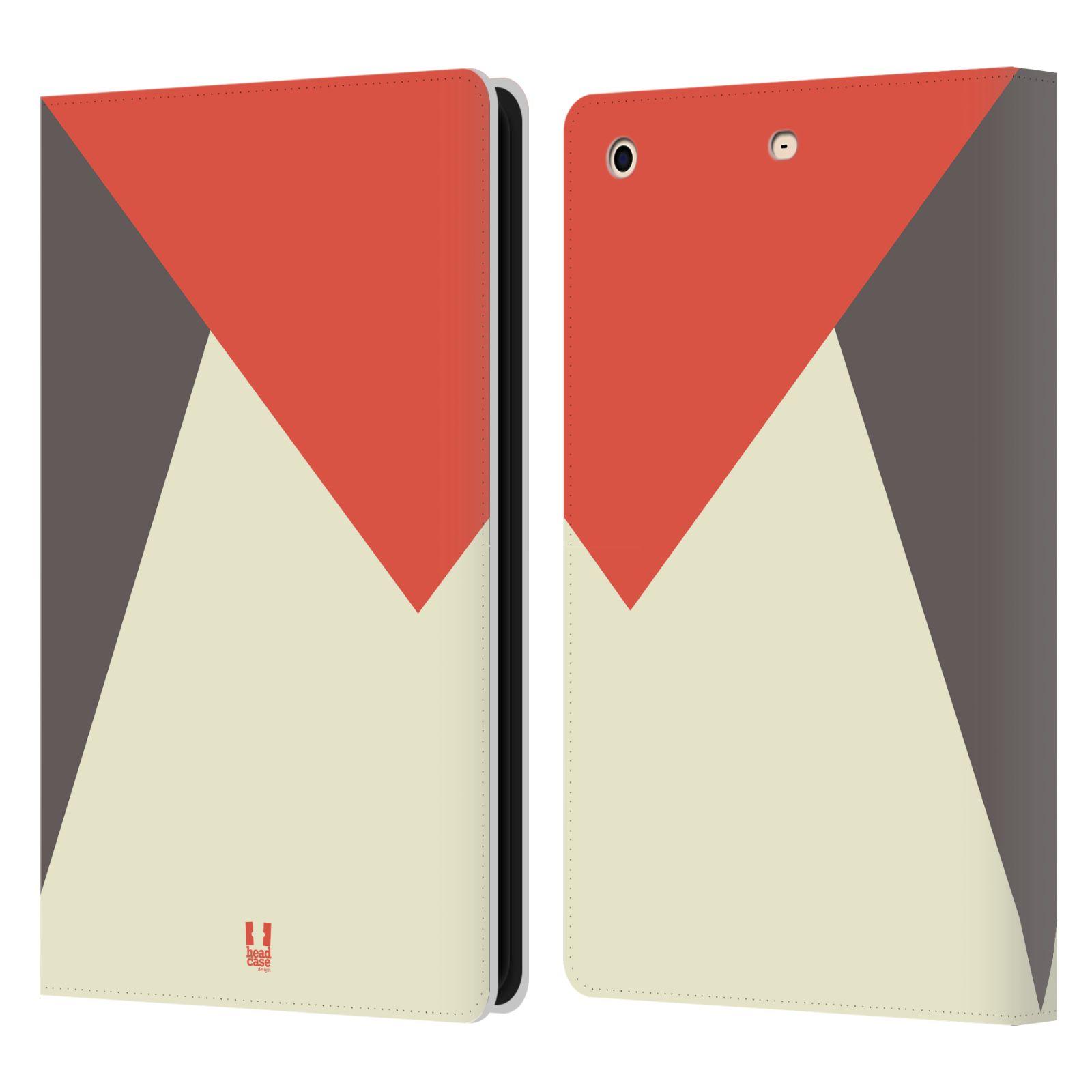 HEAD CASE Flipové pouzdro pro tablet Apple iPad mini barevné tvary červená a šedá COOL