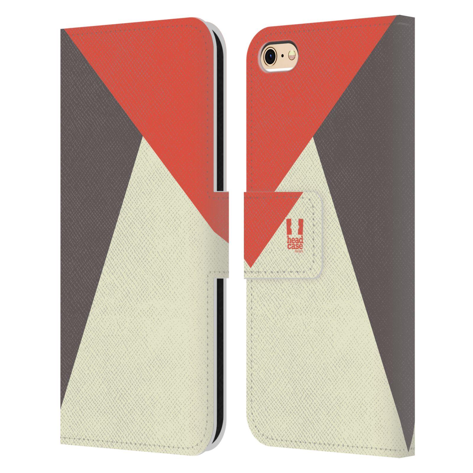 HEAD CASE Flipové pouzdro pro mobil Apple Iphone 6/6s barevné tvary červená a šedá COOL