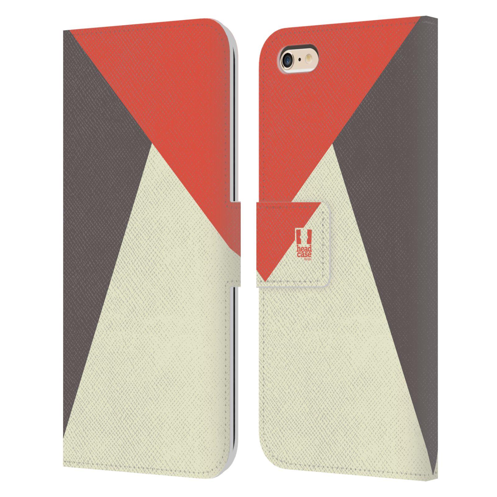 HEAD CASE Flipové pouzdro pro mobil Apple Iphone 6 PLUS/6S PLUS barevné tvary červená a šedá COOL