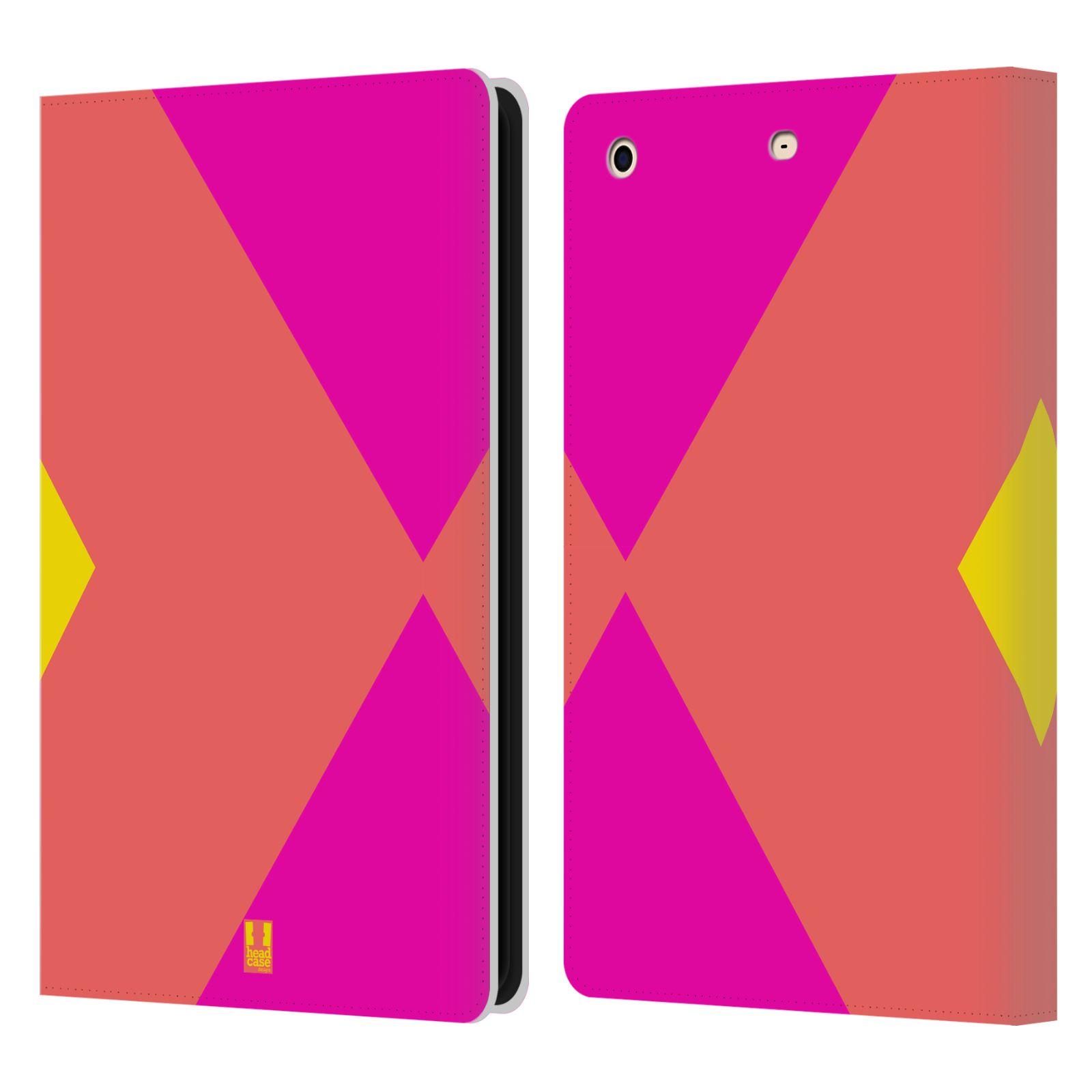 HEAD CASE Flipové pouzdro pro tablet Apple iPad mini barevné tvary růžová korál