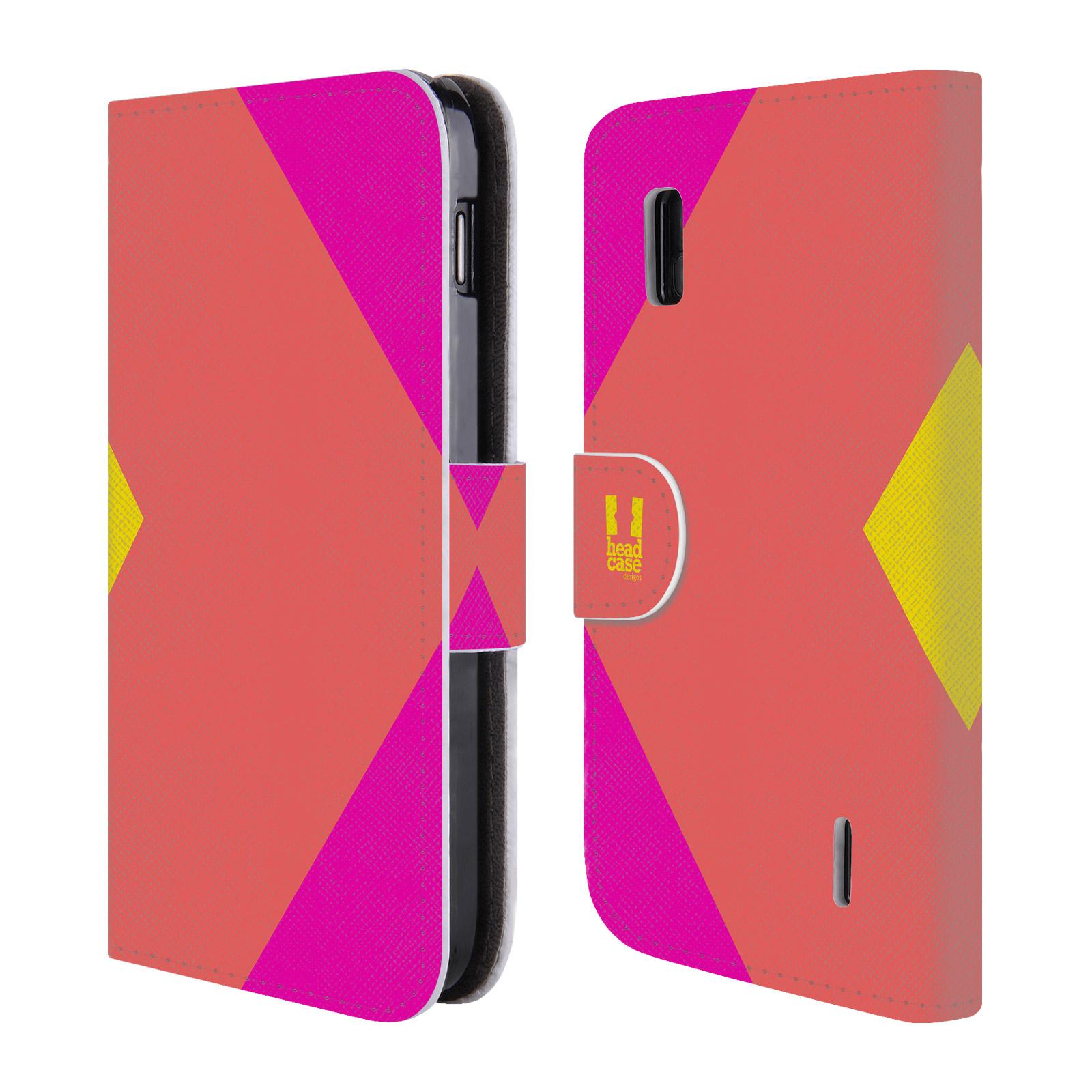 HEAD CASE Flipové pouzdro pro mobil LG NEXUS 4 barevné tvary růžová korál