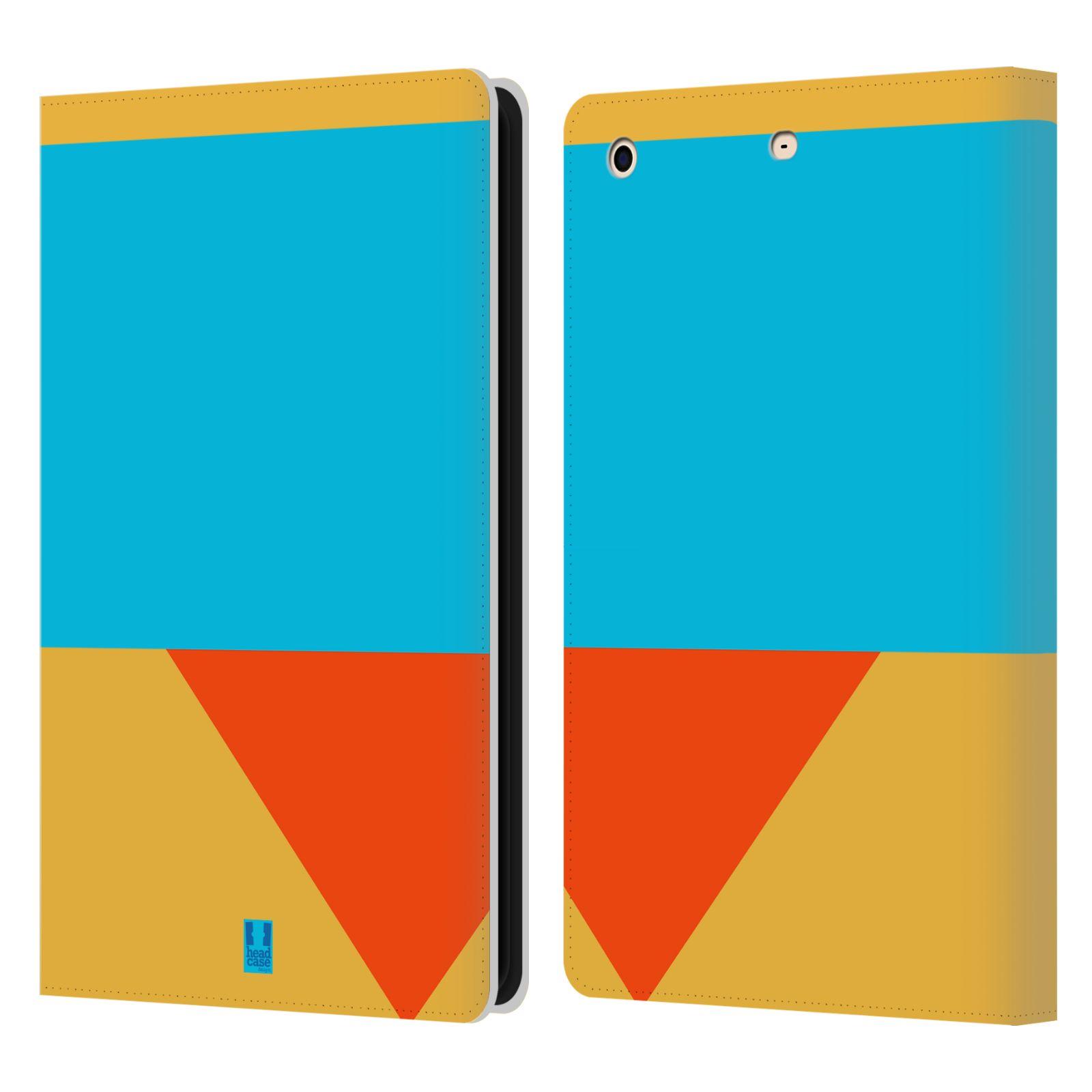 HEAD CASE Flipové pouzdro pro tablet Apple iPad mini barevné tvary béžová a modrá DAY WEAR
