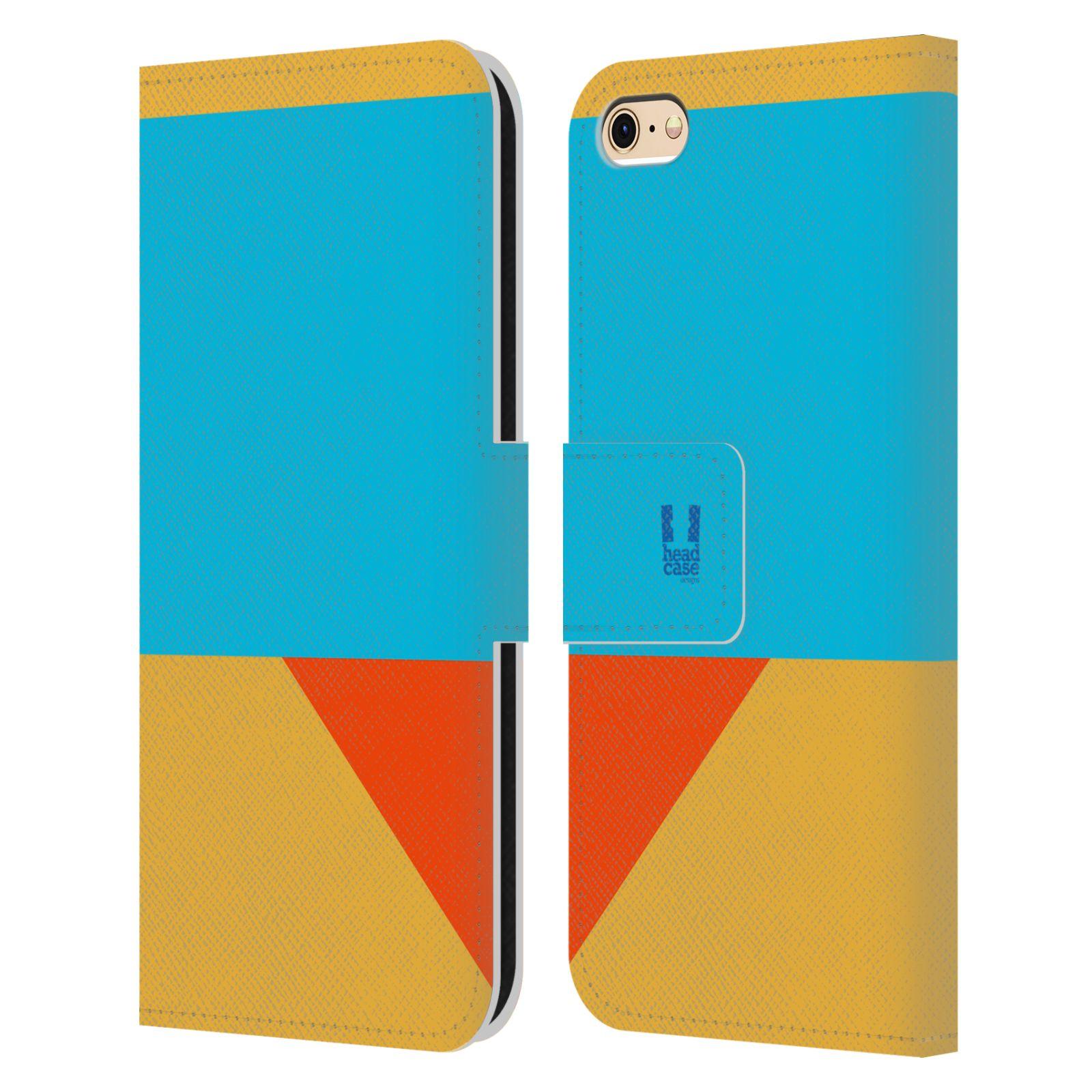 HEAD CASE Flipové pouzdro pro mobil Apple Iphone 6/6s barevné tvary béžová a modrá DAY WEAR