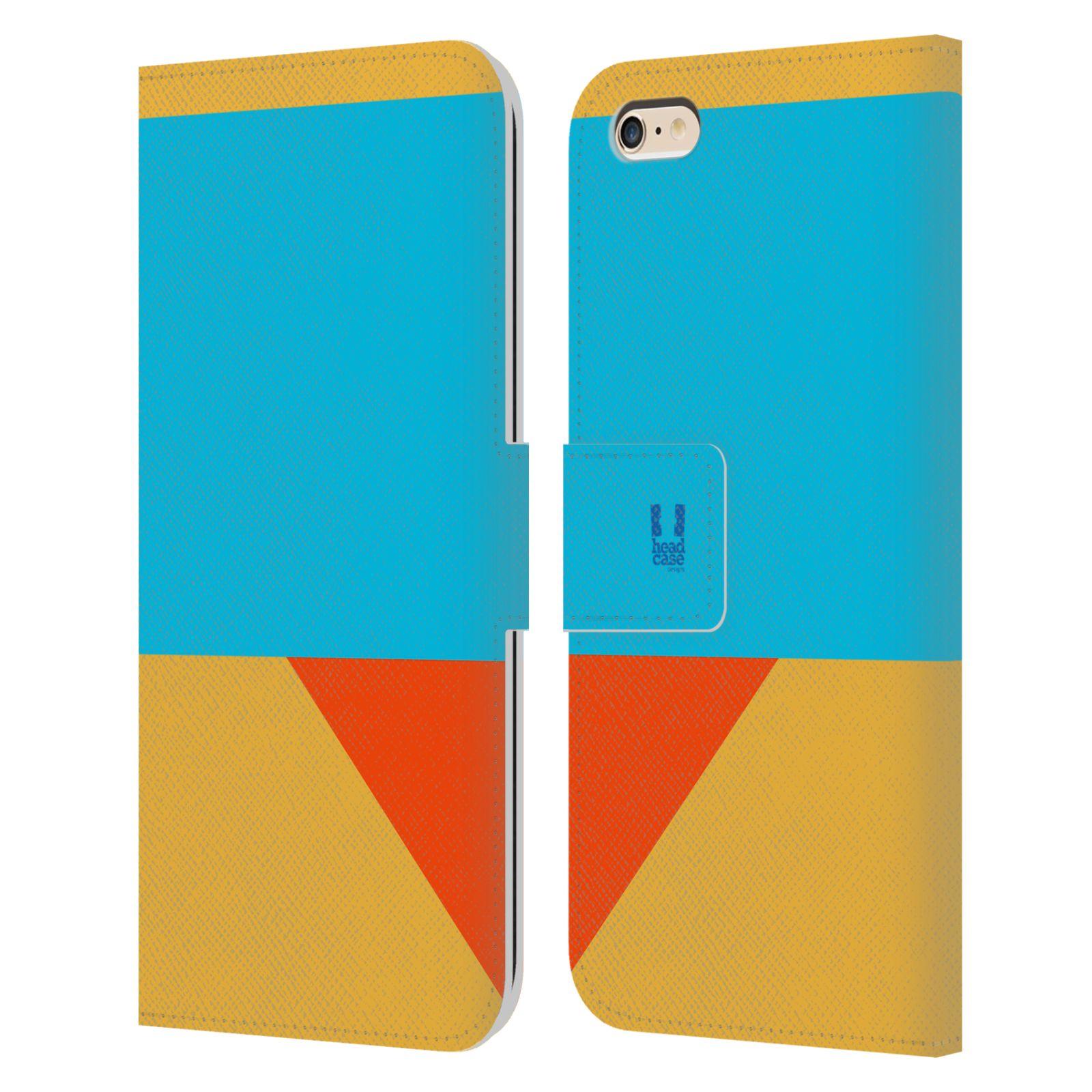HEAD CASE Flipové pouzdro pro mobil Apple Iphone 6 PLUS/6S PLUS barevné tvary béžová a modrá DAY WEAR