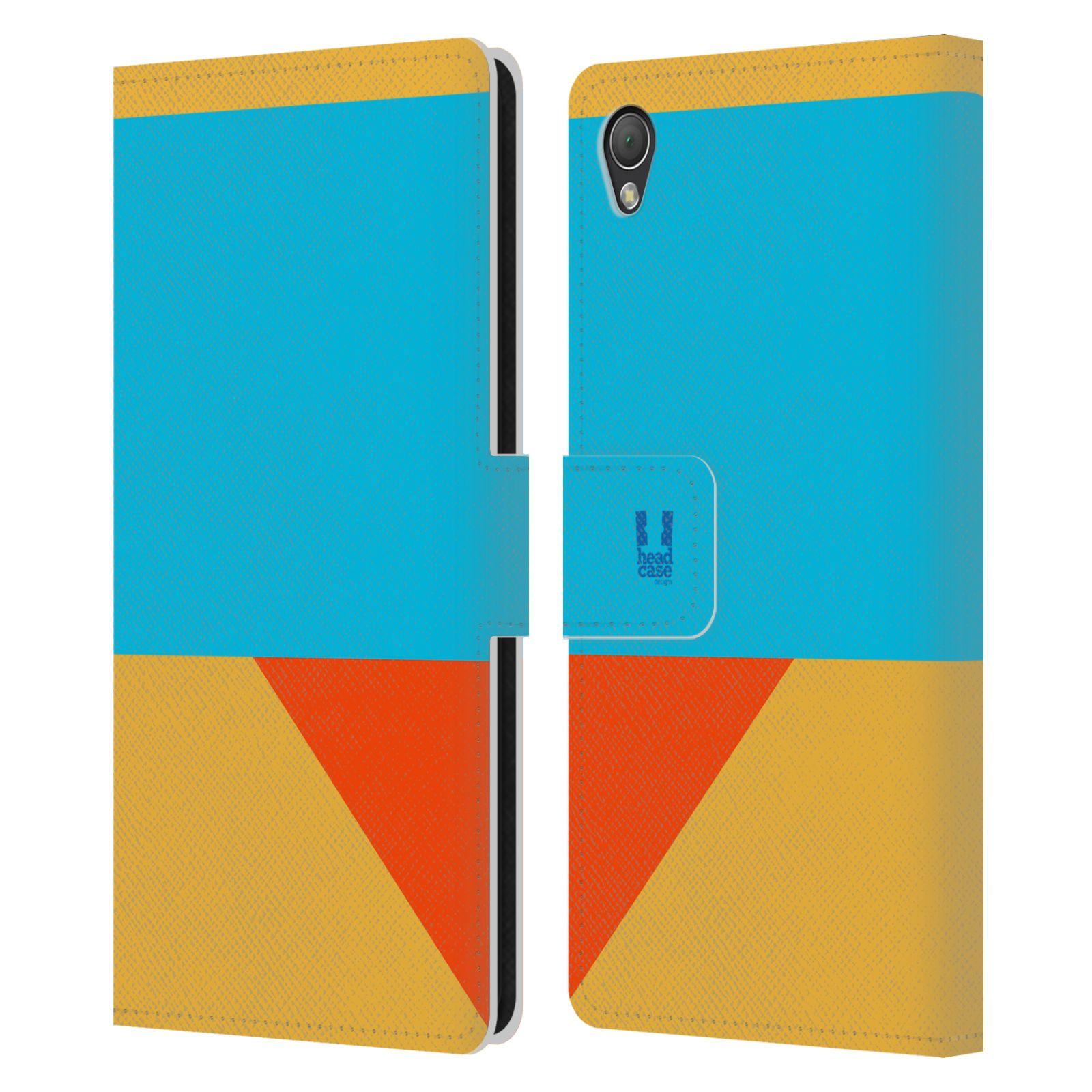 HEAD CASE Flipové pouzdro pro mobil SONY XPERIA Z3 barevné tvary béžová a modrá DAY WEAR