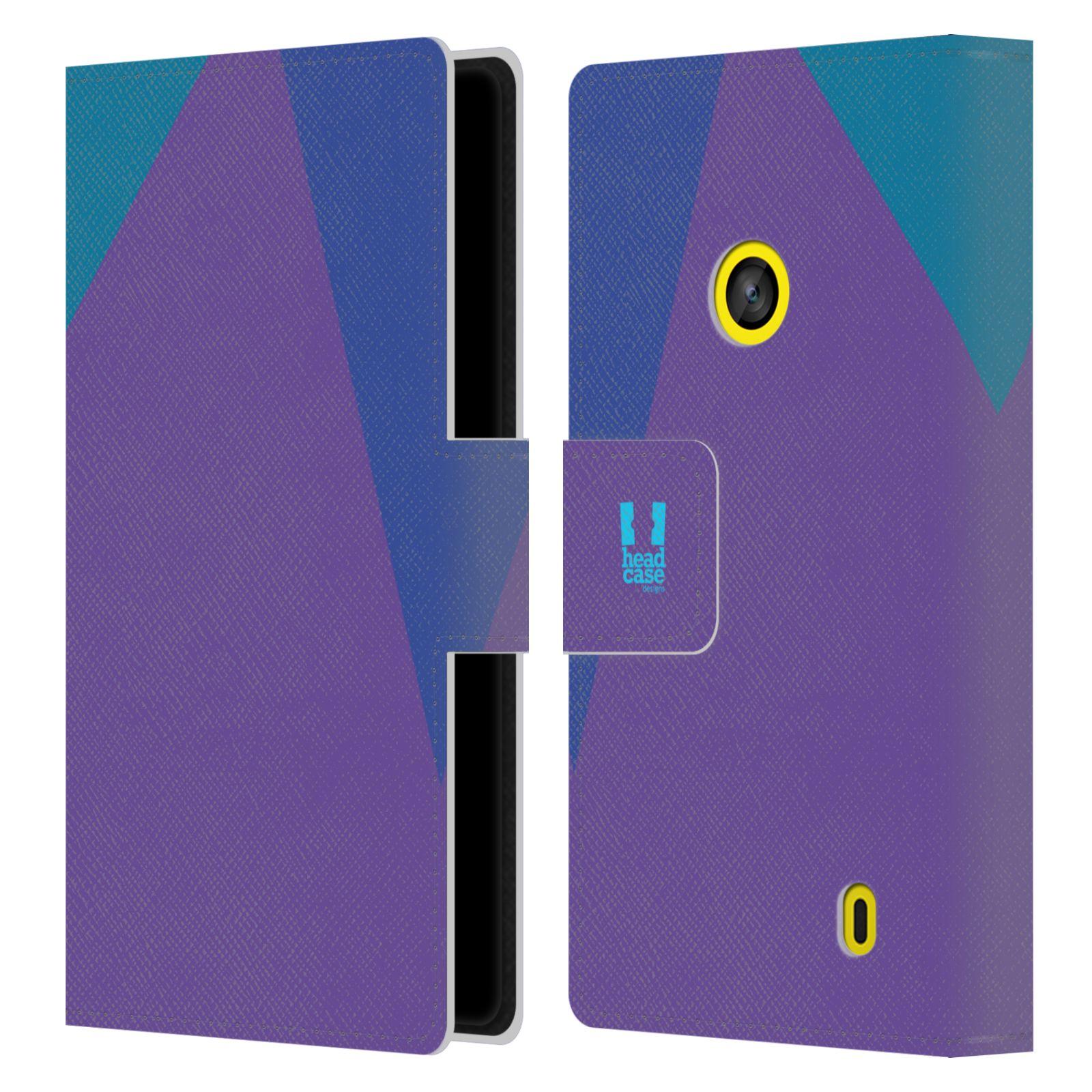 HEAD CASE Flipové pouzdro pro mobil Nokia LUMIA 520/525 barevné tvary fialová feminine