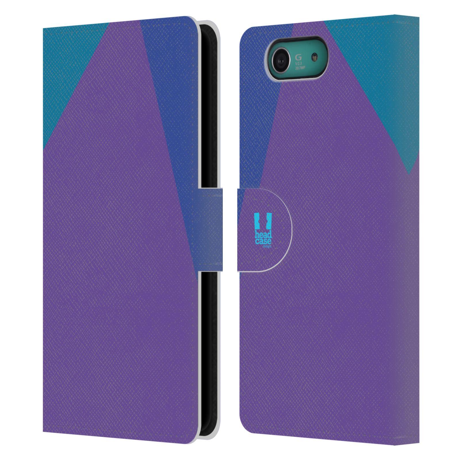HEAD CASE Flipové pouzdro pro mobil SONY XPERIA Z3 COMPACT barevné tvary fialová feminine