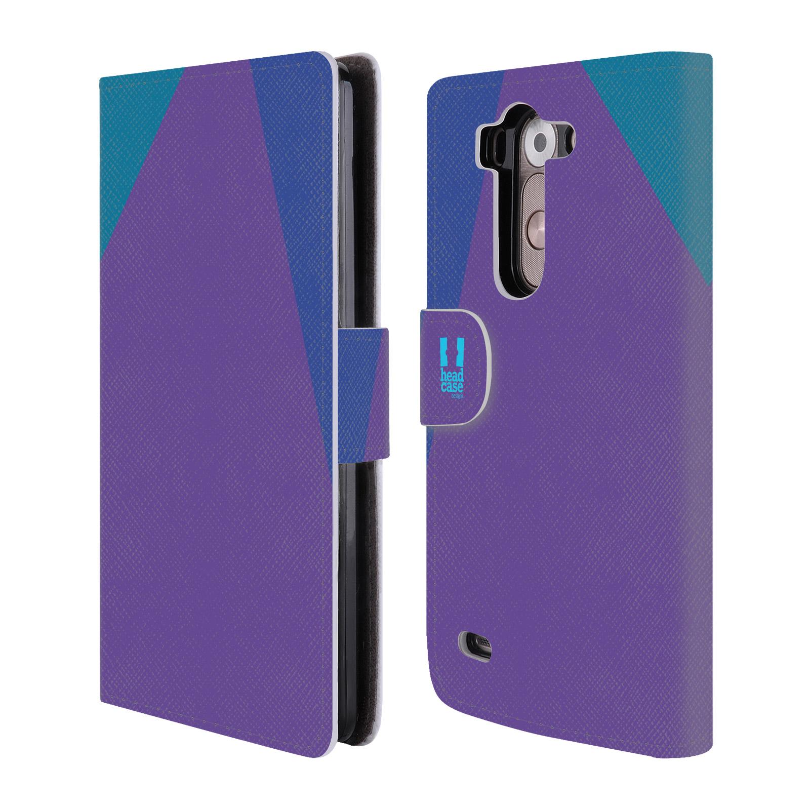 HEAD CASE Flipové pouzdro pro mobil LG G3s barevné tvary fialová feminine