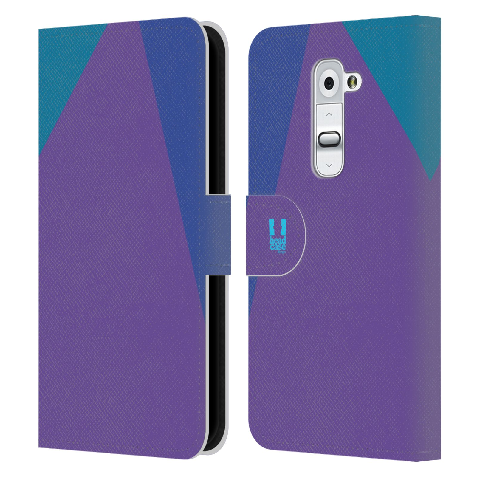HEAD CASE Flipové pouzdro pro mobil LG G2 barevné tvary fialová feminine