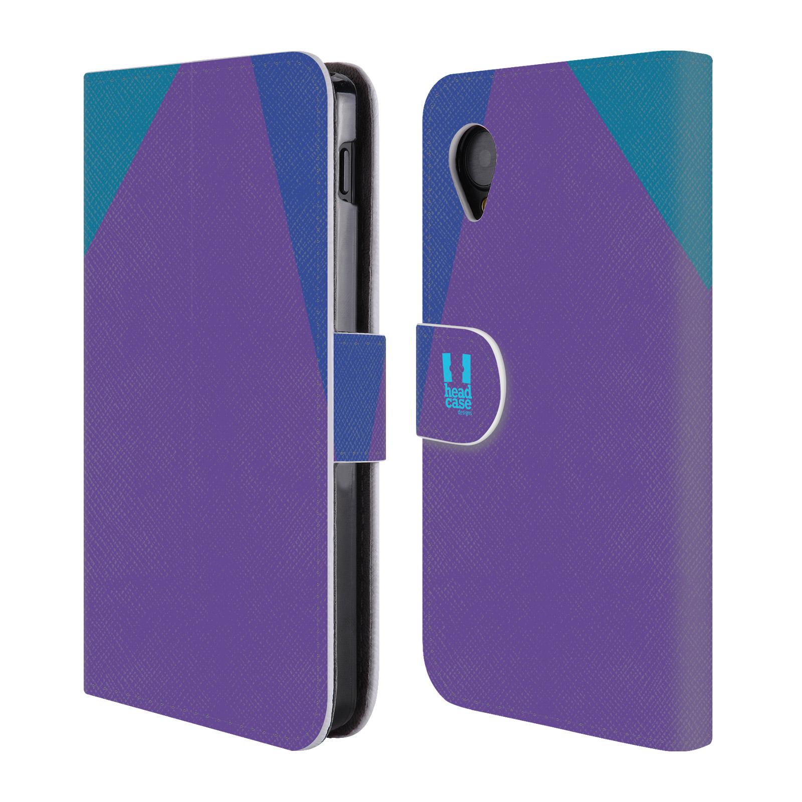 HEAD CASE Flipové pouzdro pro mobil LG GOOGLE NEXUS 5 barevné tvary fialová feminine
