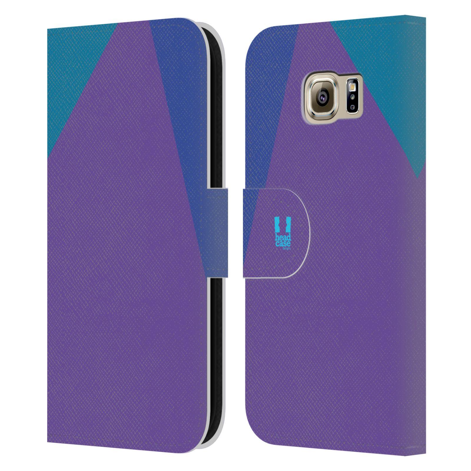 HEAD CASE Flipové pouzdro pro mobil Samsung Galaxy S6 barevné tvary fialová feminine