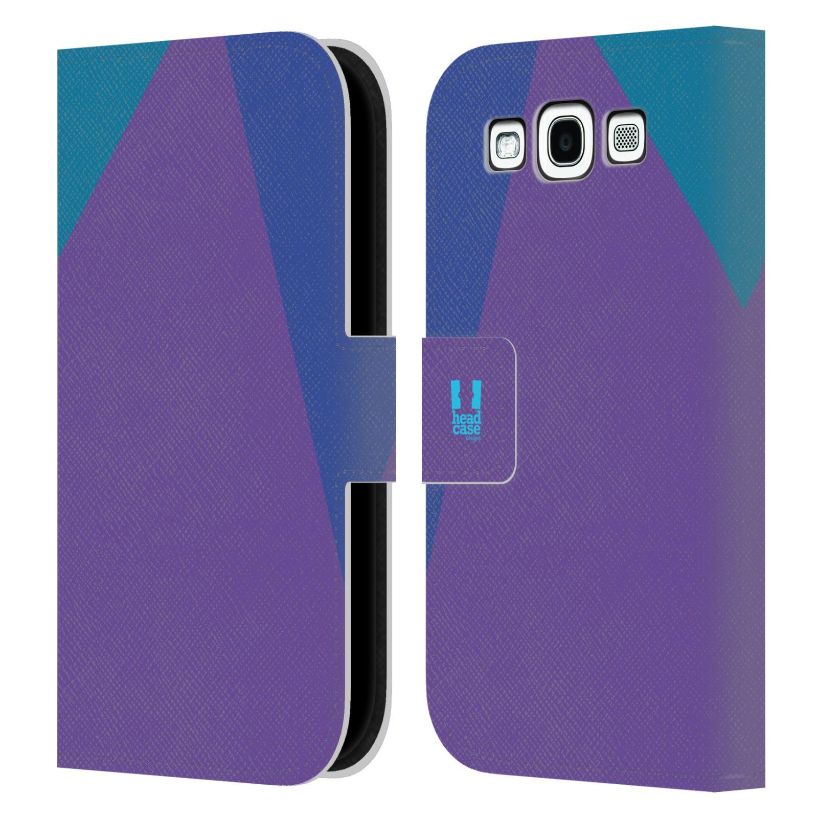 HEAD CASE Flipové pouzdro pro mobil Samsung Galaxy S3 I9300 barevné tvary fialová feminine