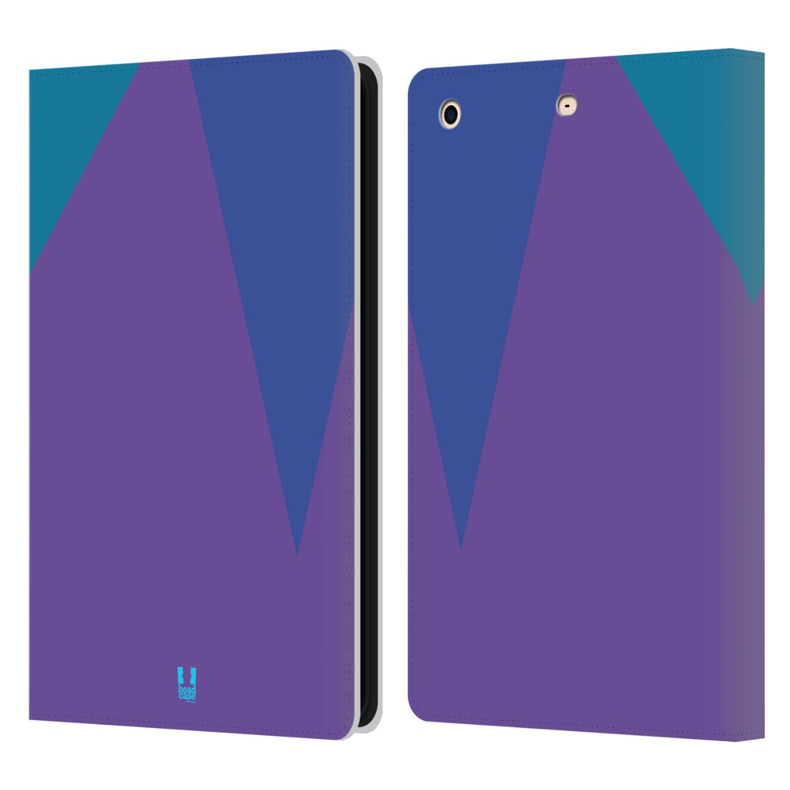 HEAD CASE Flipové pouzdro pro tablet Apple iPad mini barevné tvary fialová feminine