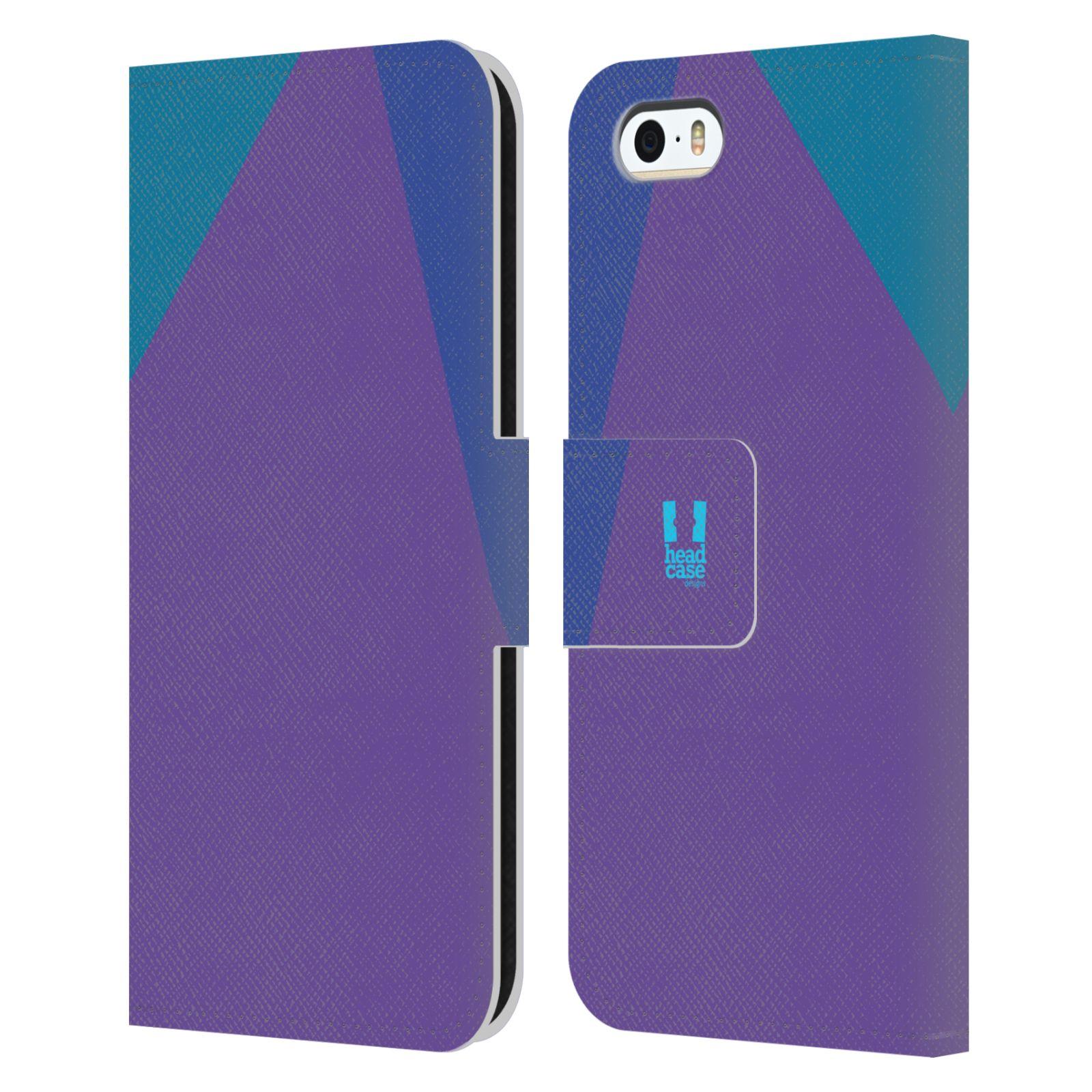 HEAD CASE Flipové pouzdro pro mobil Apple Iphone 5/5S barevné tvary fialová feminine