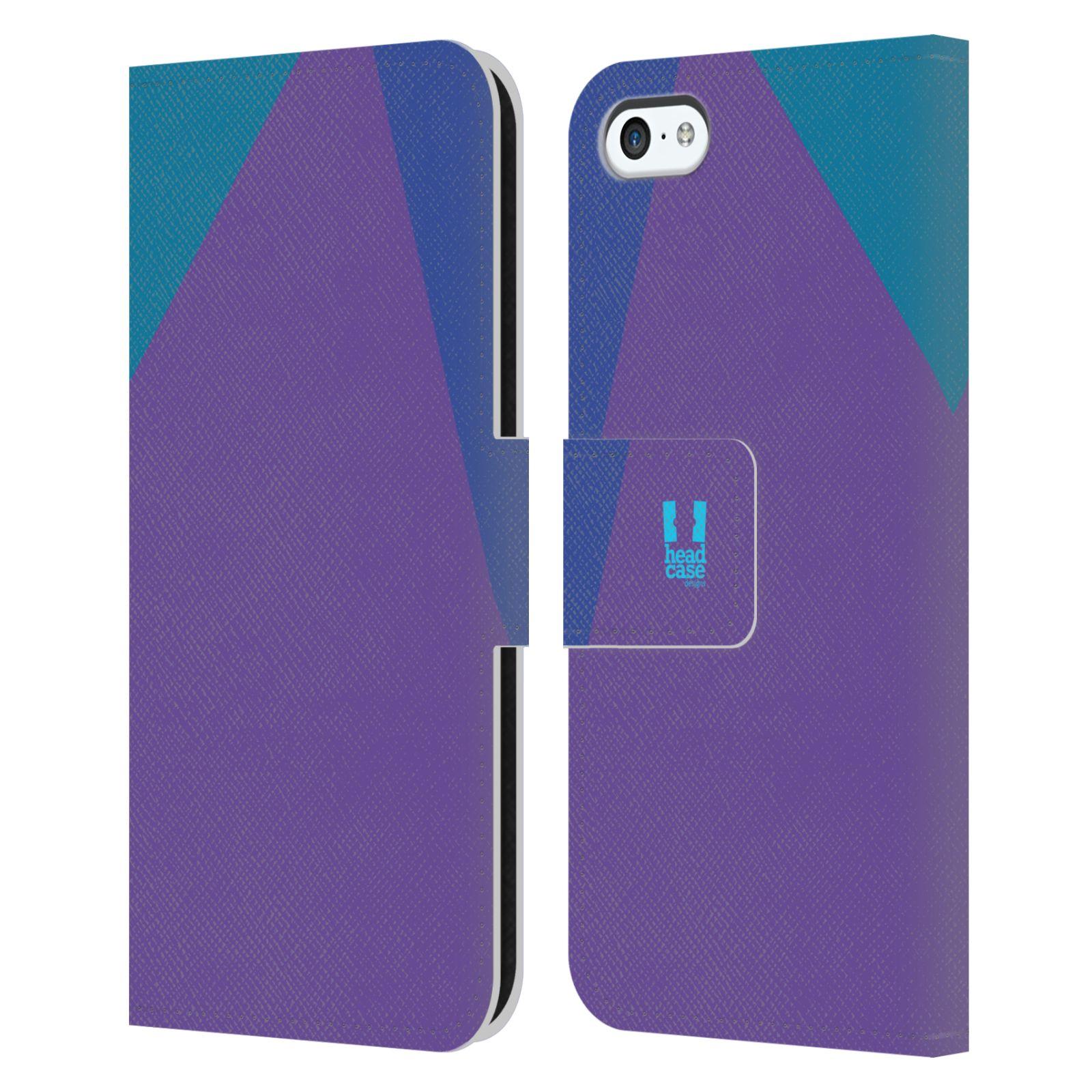 HEAD CASE Flipové pouzdro pro mobil Apple Iphone 5C barevné tvary fialová feminine