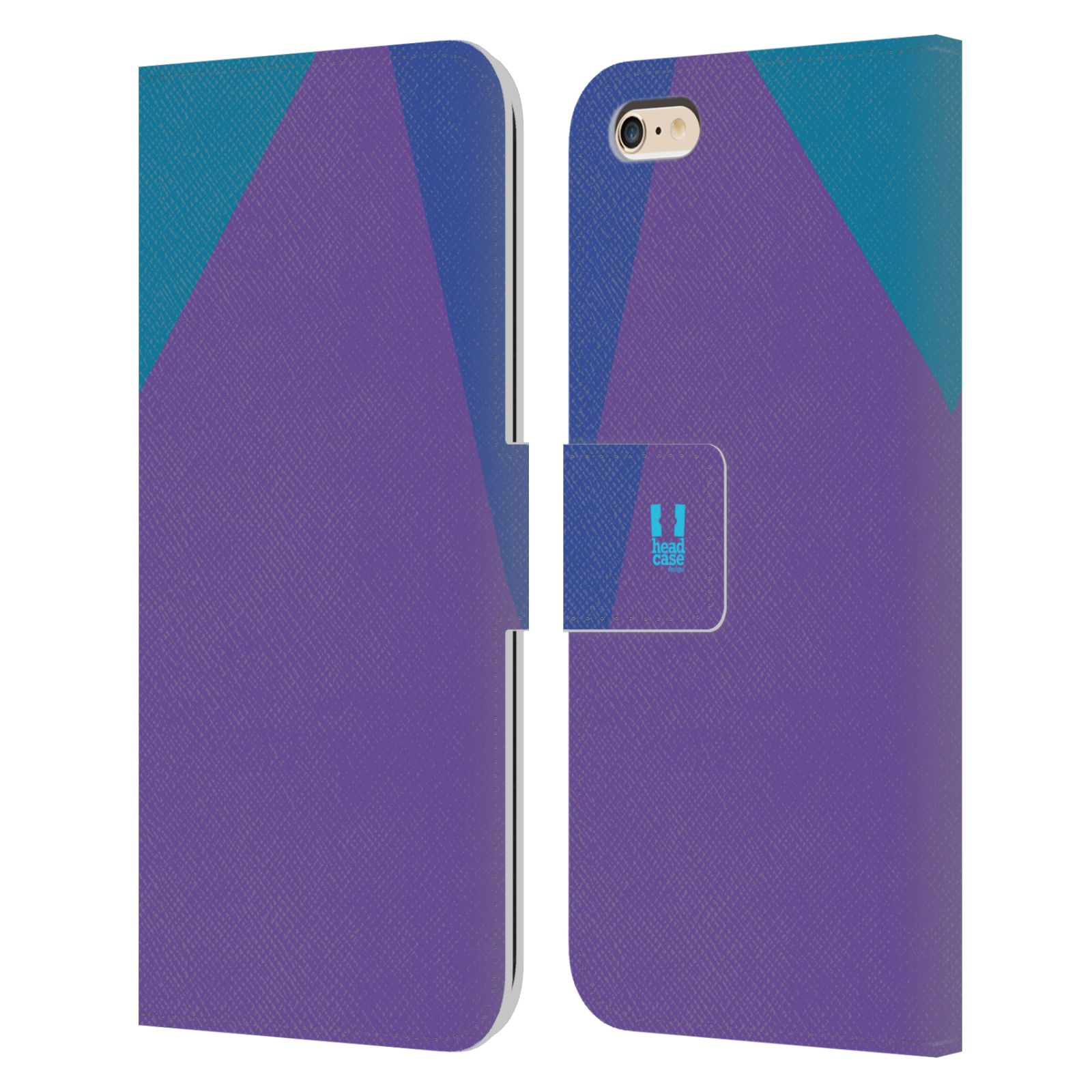 HEAD CASE Flipové pouzdro pro mobil Apple Iphone 6 PLUS/6S PLUS barevné tvary fialová feminine