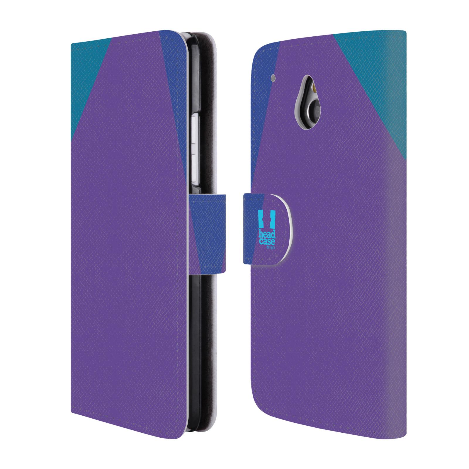 HEAD CASE Flipové pouzdro pro mobil HTC ONE MINI barevné tvary fialová feminine