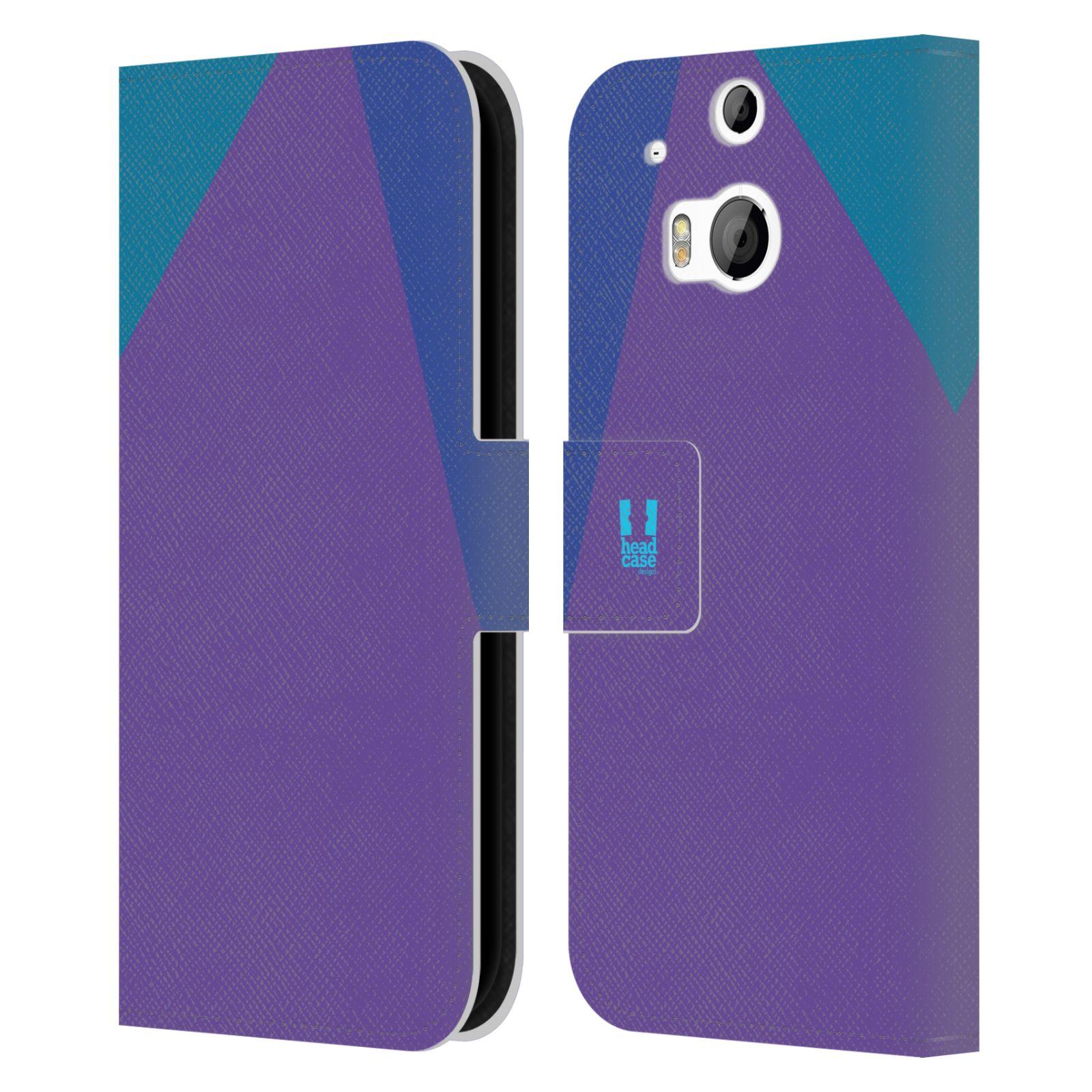 HEAD CASE Flipové pouzdro pro mobil HTC ONE M8/M8s barevné tvary fialová feminine