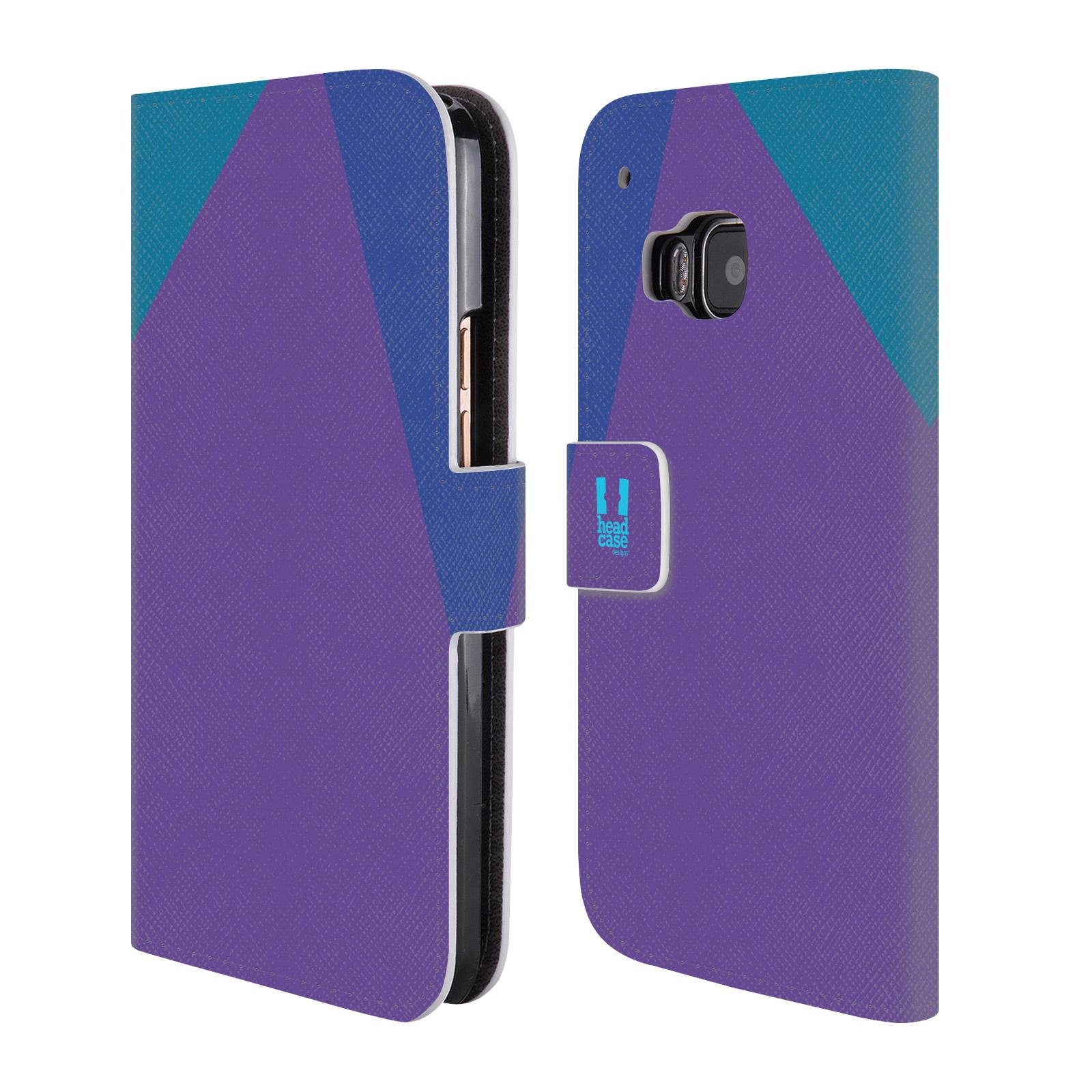 HEAD CASE Flipové pouzdro pro mobil HTC ONE M9 barevné tvary fialová feminine