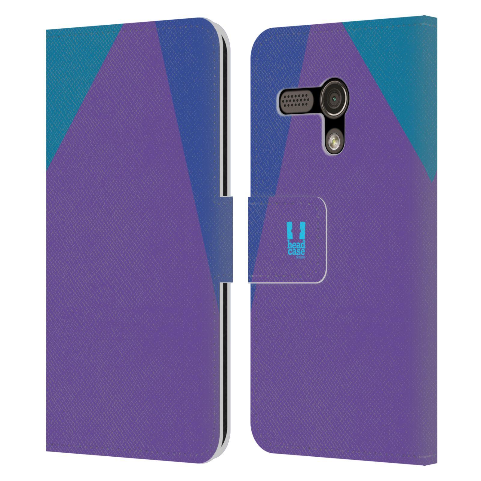HEAD CASE Flipové pouzdro pro mobil Motorola MOTO G barevné tvary fialová feminine