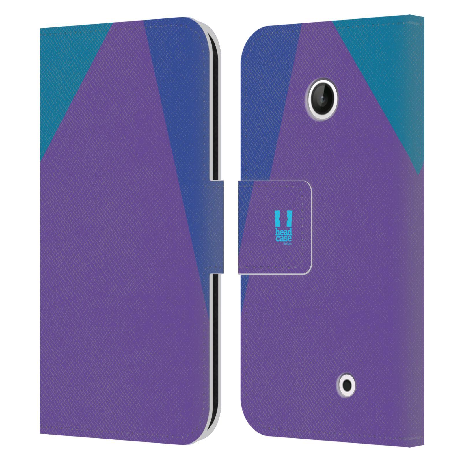 HEAD CASE Flipové pouzdro pro mobil Nokia LUMIA 630/630 DUAL barevné tvary fialová feminine
