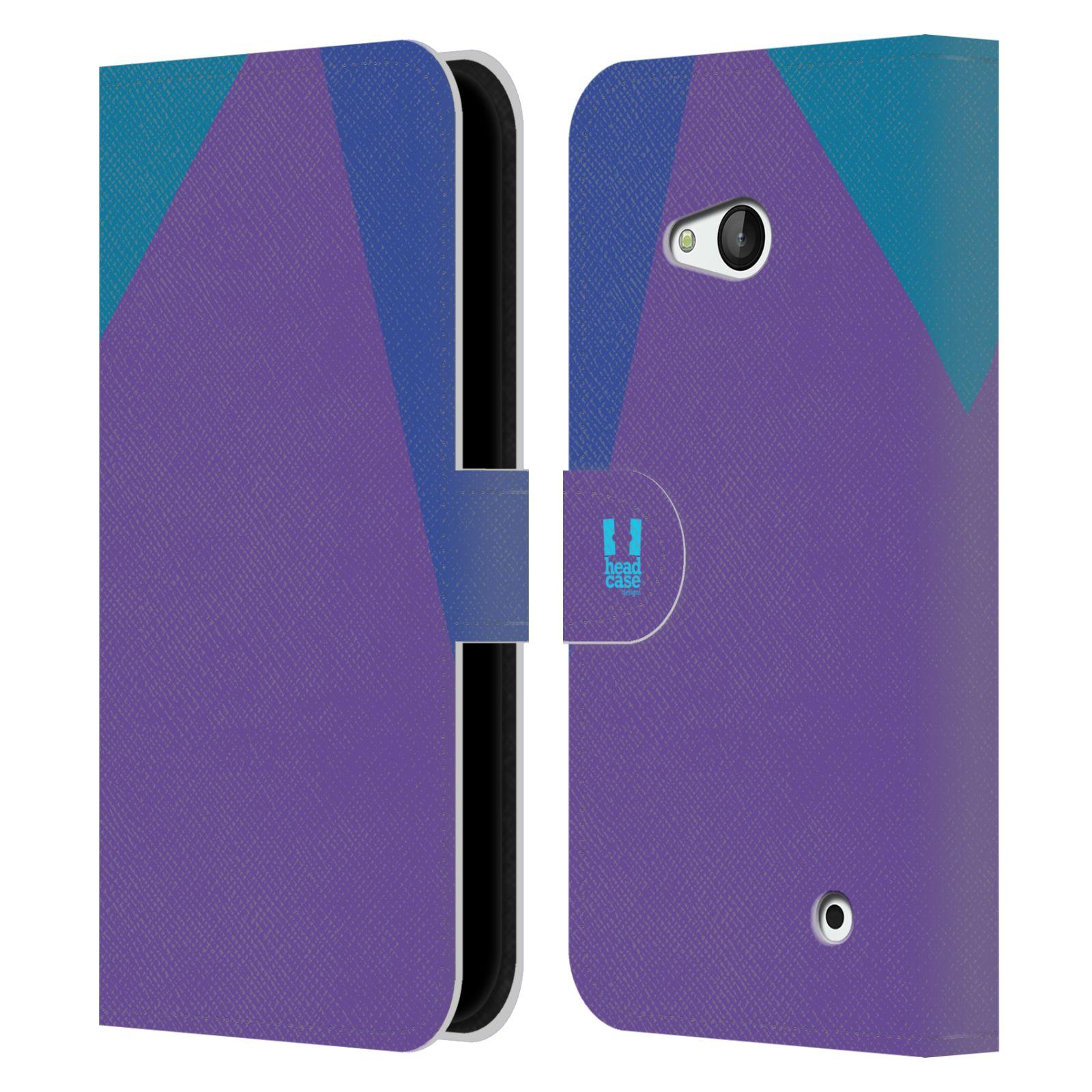 HEAD CASE Flipové pouzdro pro mobil Nokia LUMIA 640 barevné tvary fialová feminine