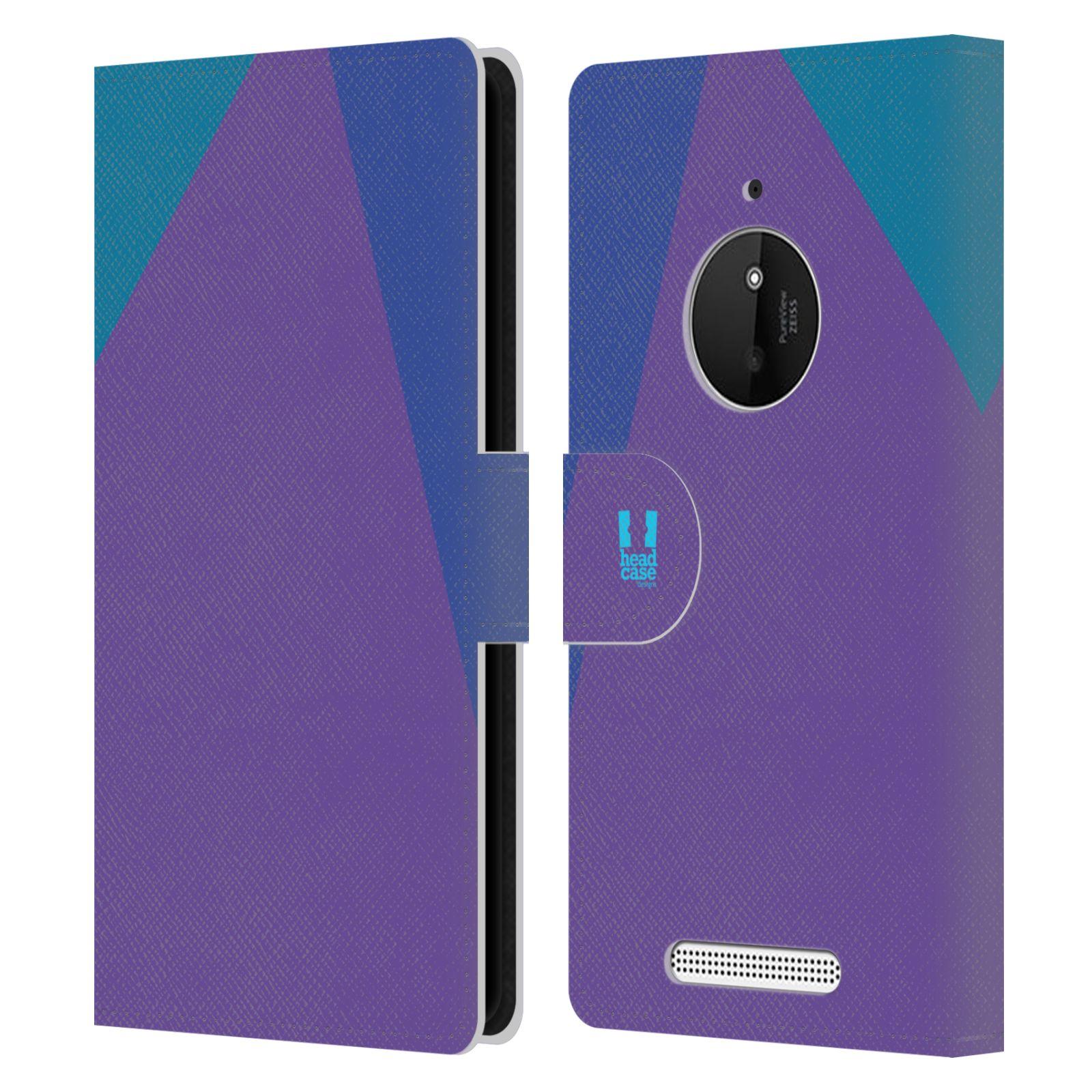 HEAD CASE Flipové pouzdro pro mobil Nokia LUMIA 830 barevné tvary fialová feminine