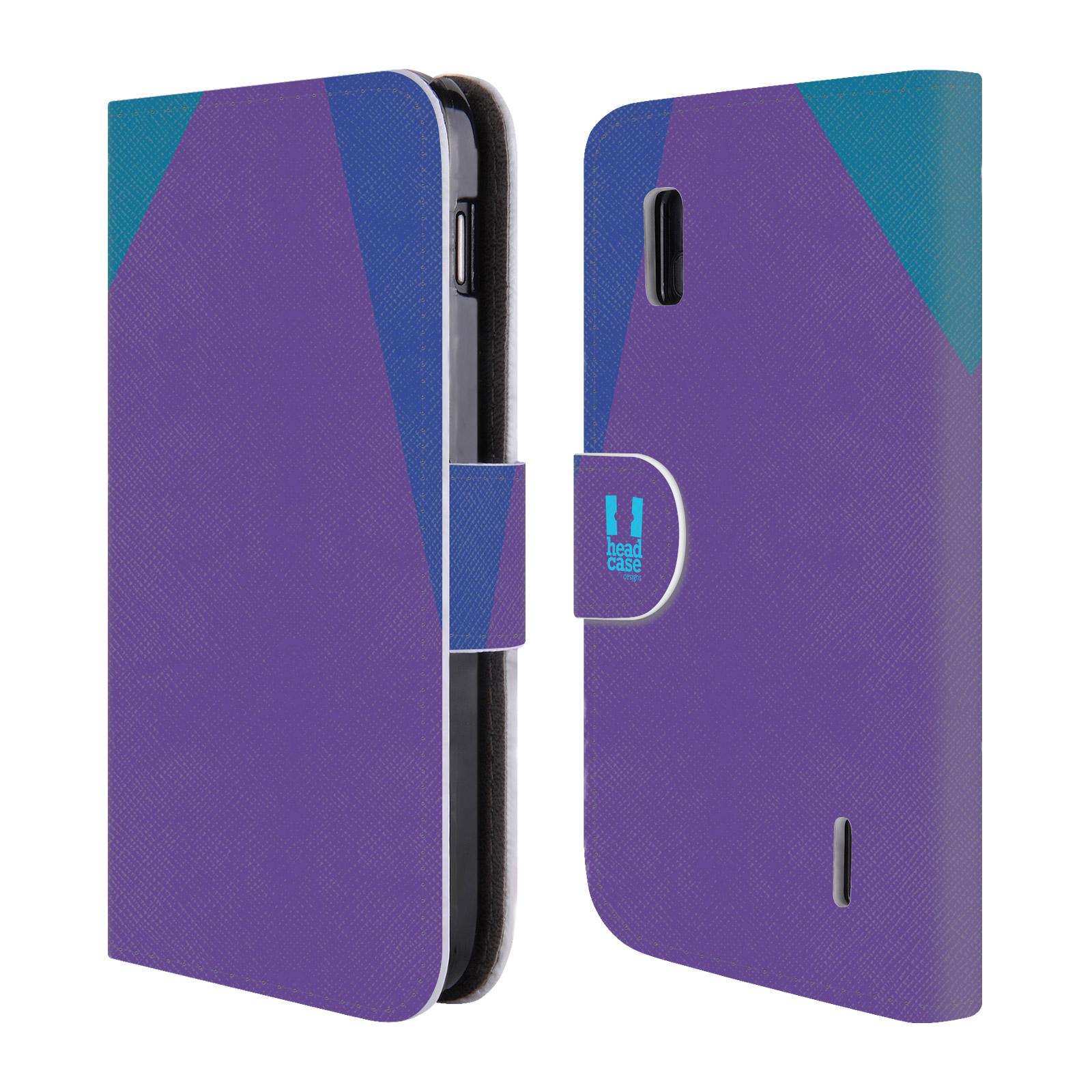 HEAD CASE Flipové pouzdro pro mobil LG NEXUS 4 barevné tvary fialová feminine