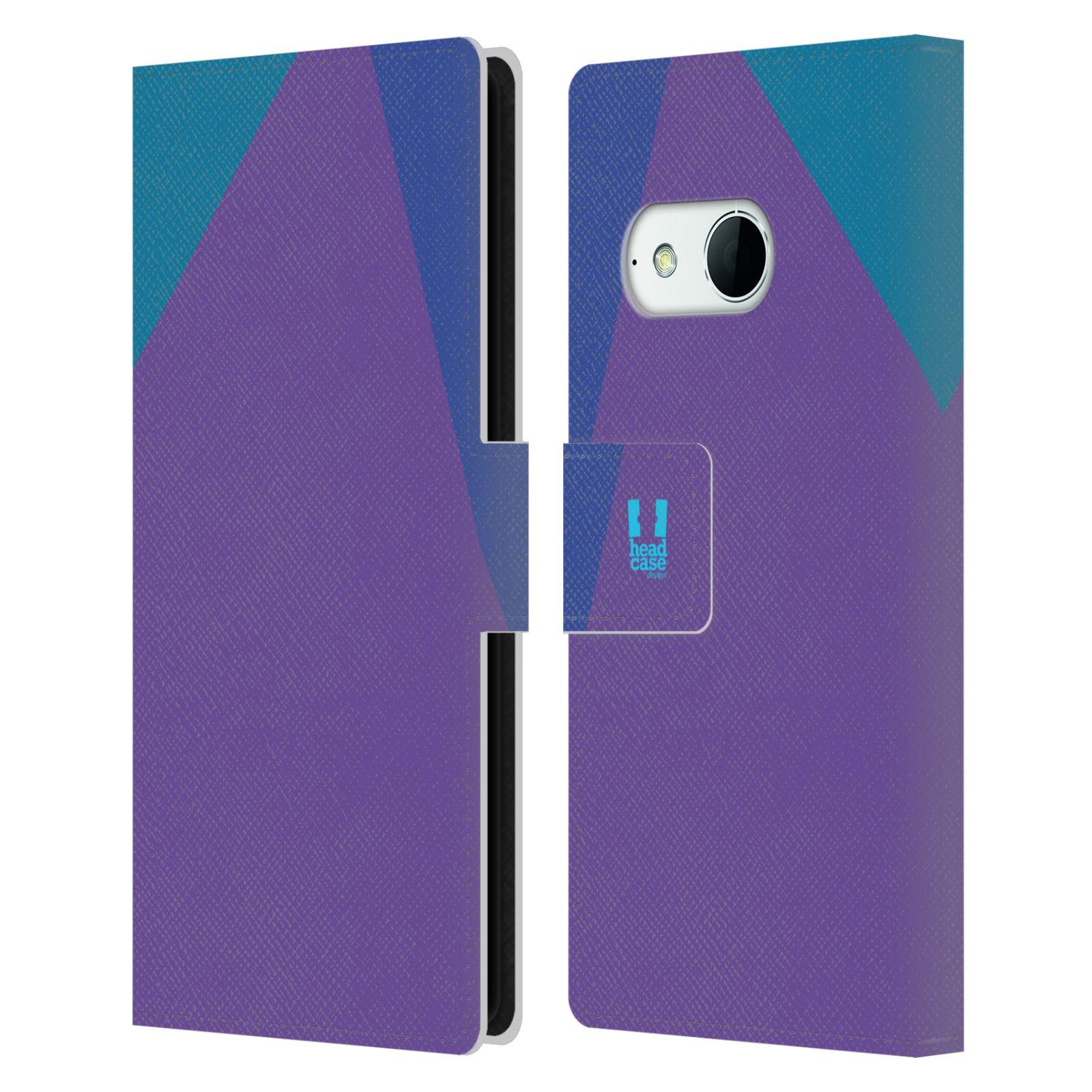 HEAD CASE Flipové pouzdro pro mobil HTC ONE MINI 2 barevné tvary fialová feminine