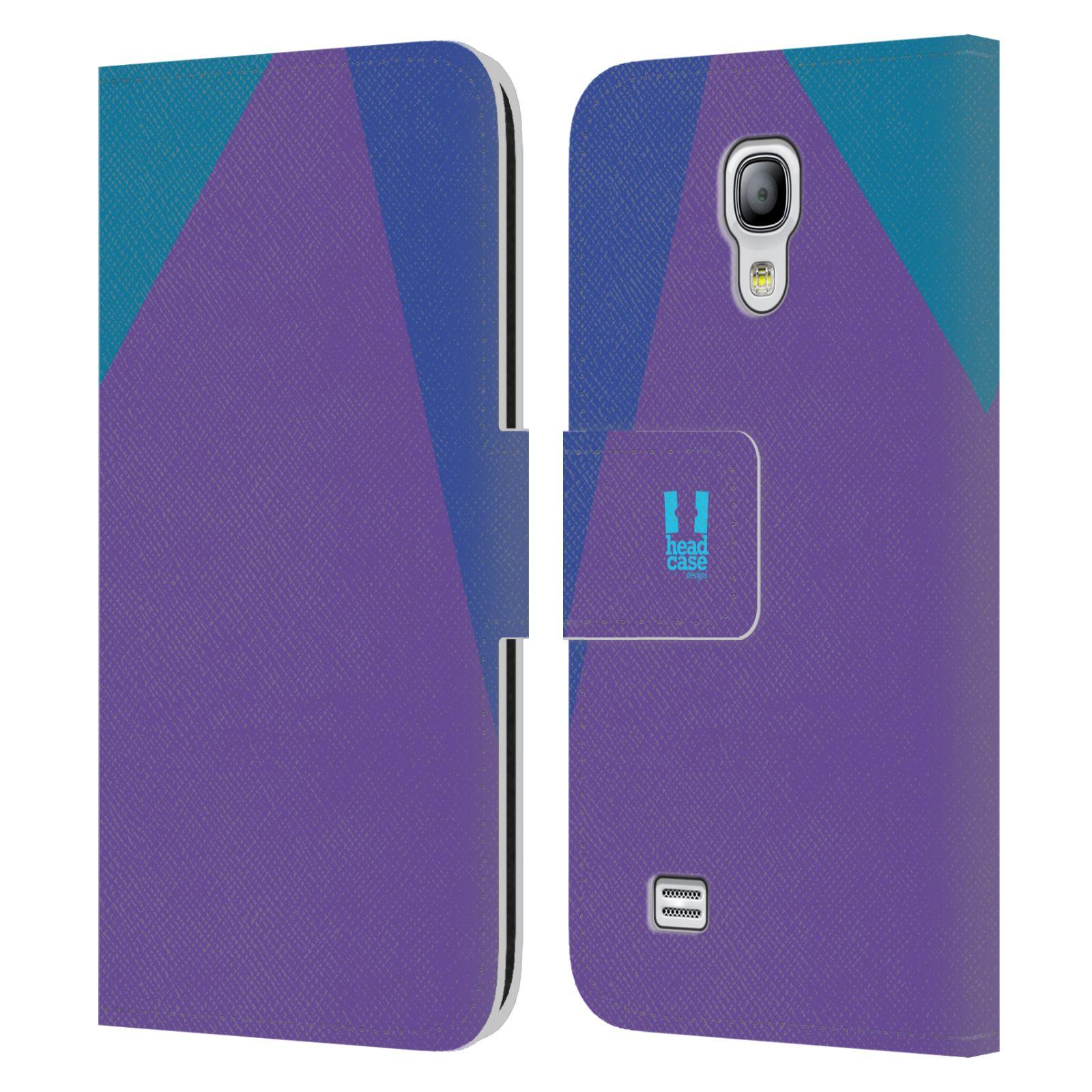 HEAD CASE Flipové pouzdro pro mobil Samsung Galaxy S4 MINI barevné tvary fialová feminine
