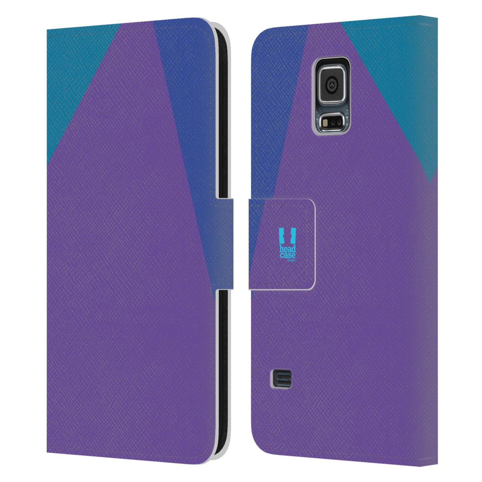 HEAD CASE Flipové pouzdro pro mobil Samsung Galaxy S5 barevné tvary fialová feminine