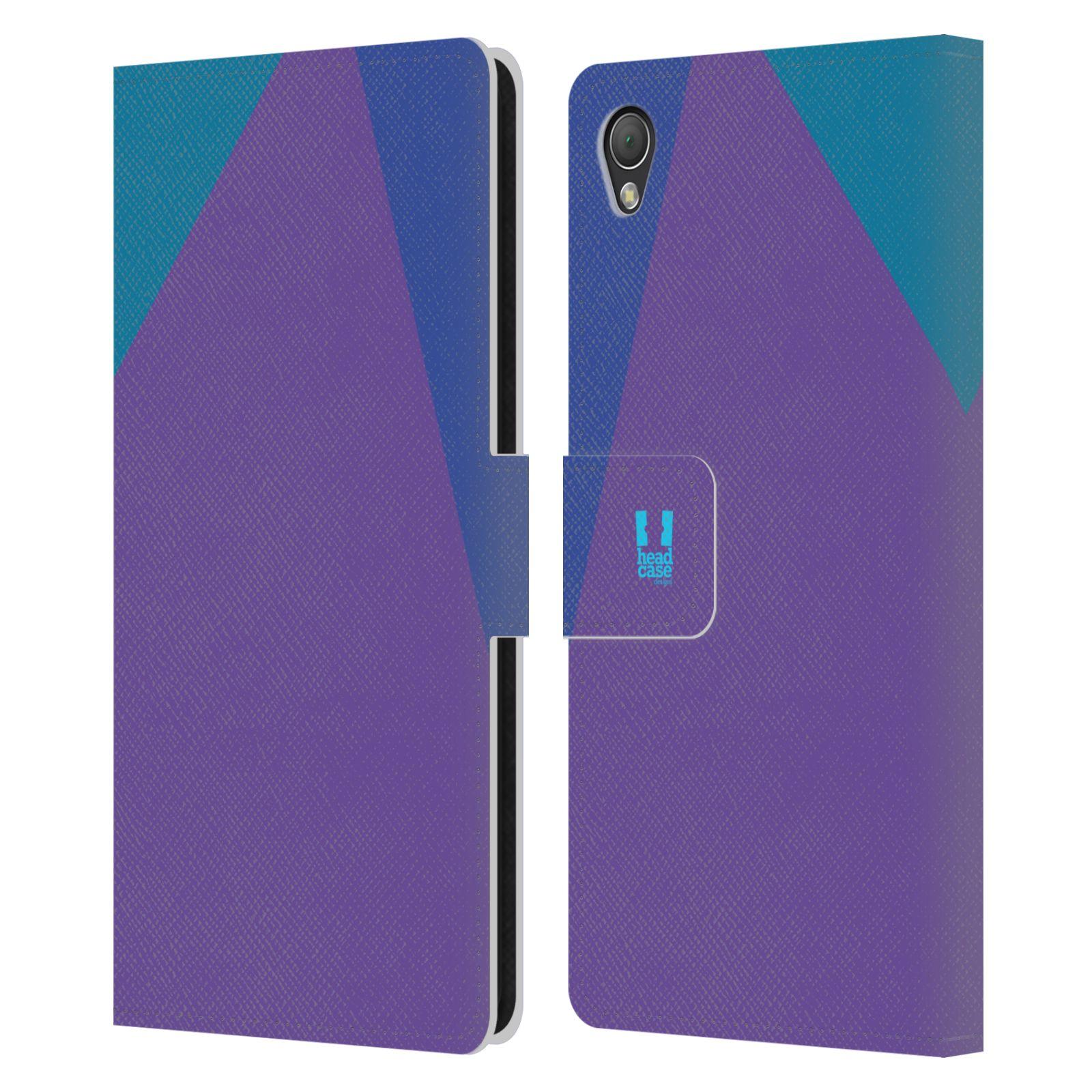 HEAD CASE Flipové pouzdro pro mobil SONY XPERIA Z3 barevné tvary fialová feminine