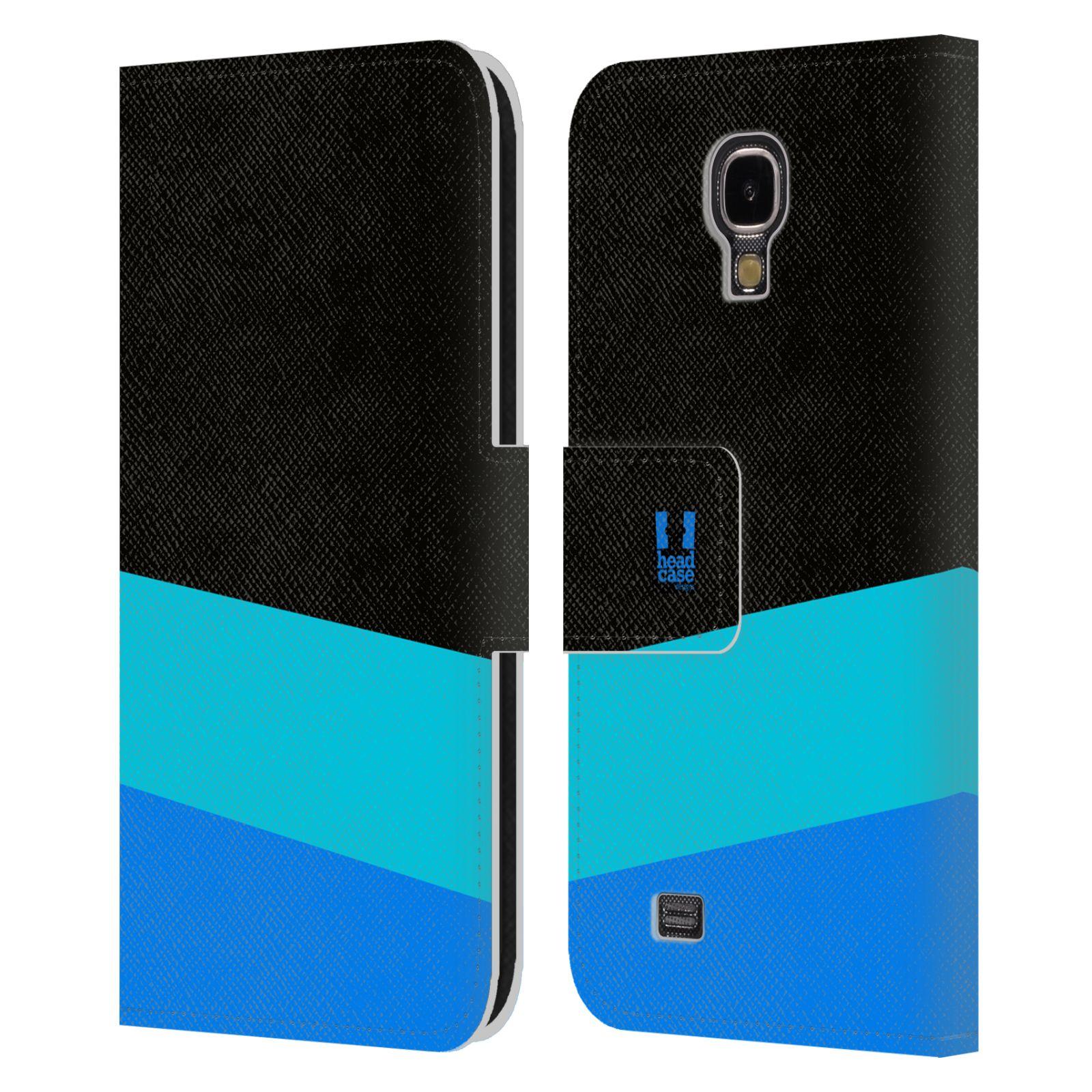 HEAD CASE Flipové pouzdro pro mobil Samsung Galaxy S4 I9500 barevné tvary modrá a černá FORMAL