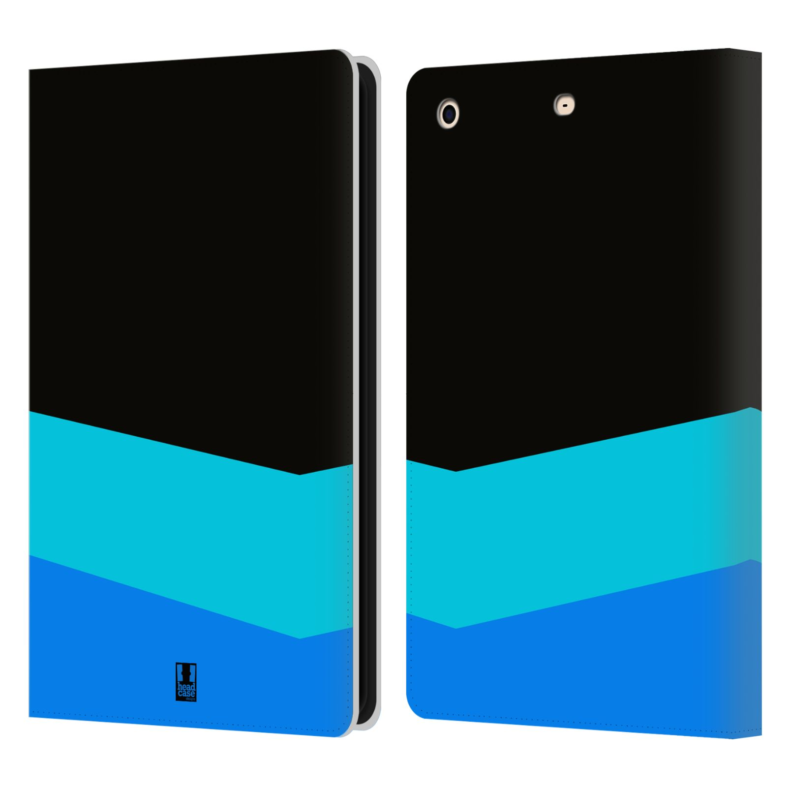 HEAD CASE Flipové pouzdro pro tablet Apple iPad mini barevné tvary modrá a černá FORMAL