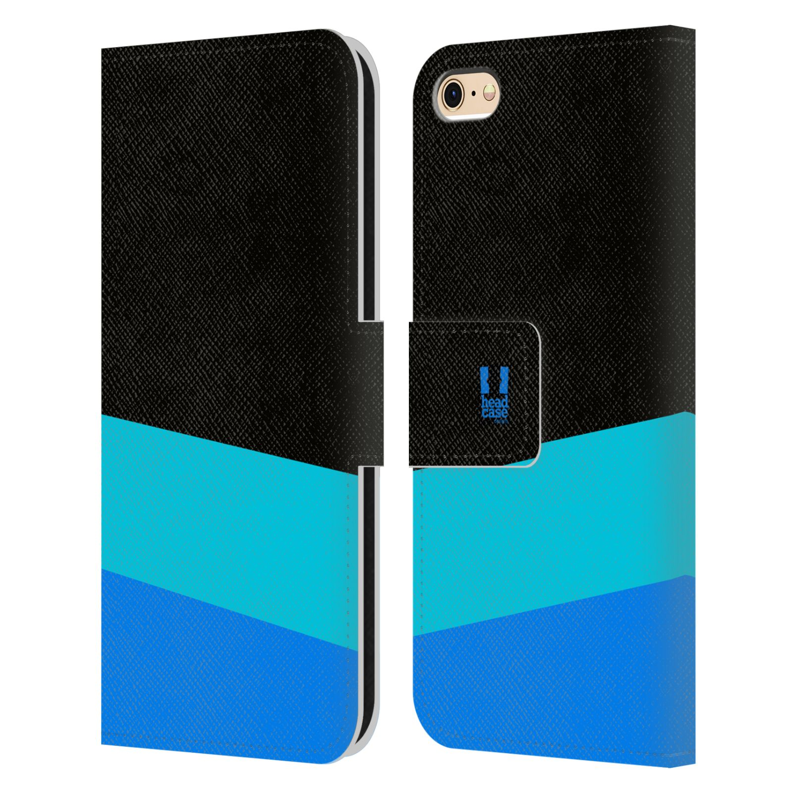 HEAD CASE Flipové pouzdro pro mobil Apple Iphone 6/6s barevné tvary modrá a černá FORMAL