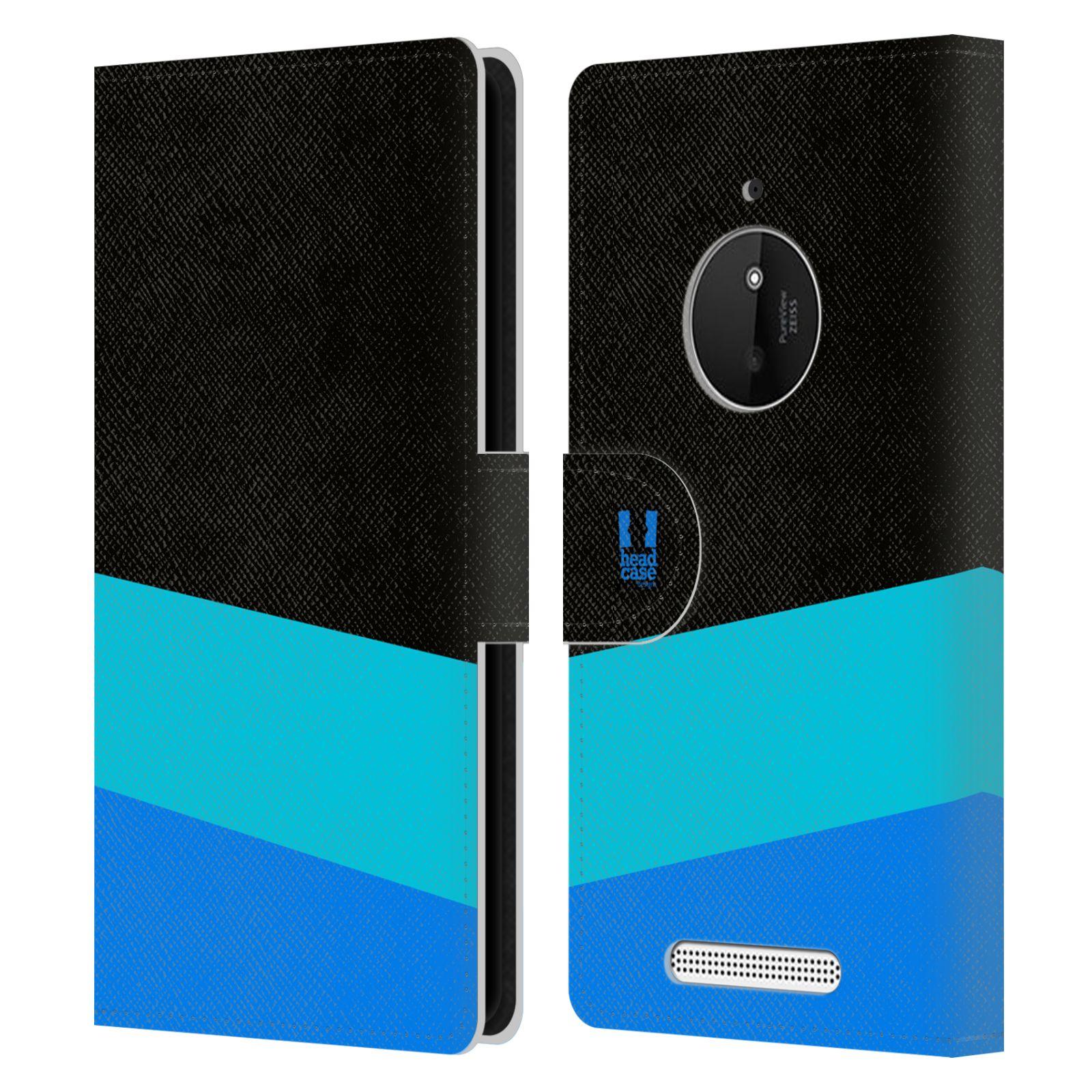 HEAD CASE Flipové pouzdro pro mobil Nokia LUMIA 830 barevné tvary modrá a černá FORMAL