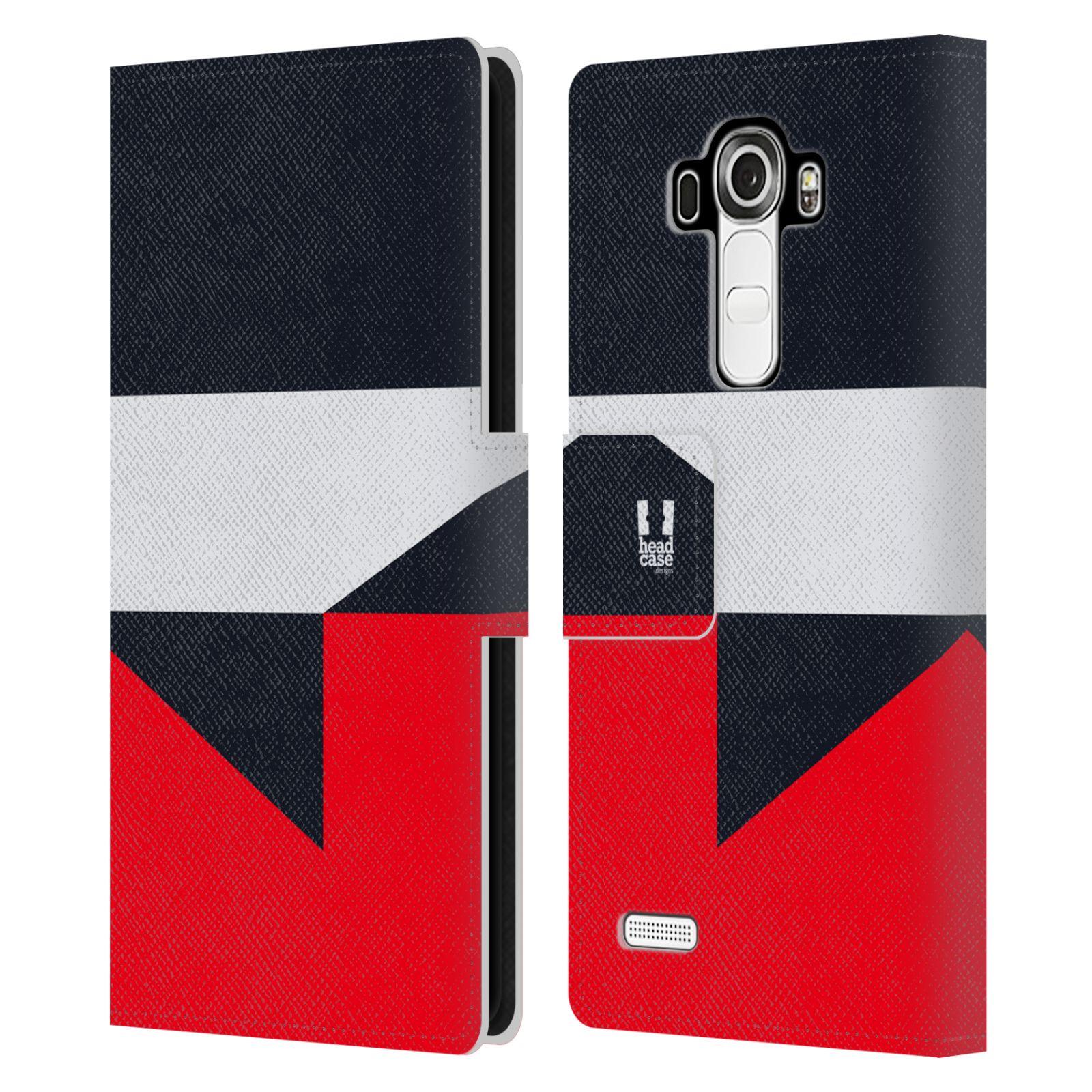 HEAD CASE Flipové pouzdro pro mobil LG G4 barevné tvary černá a červená gejša