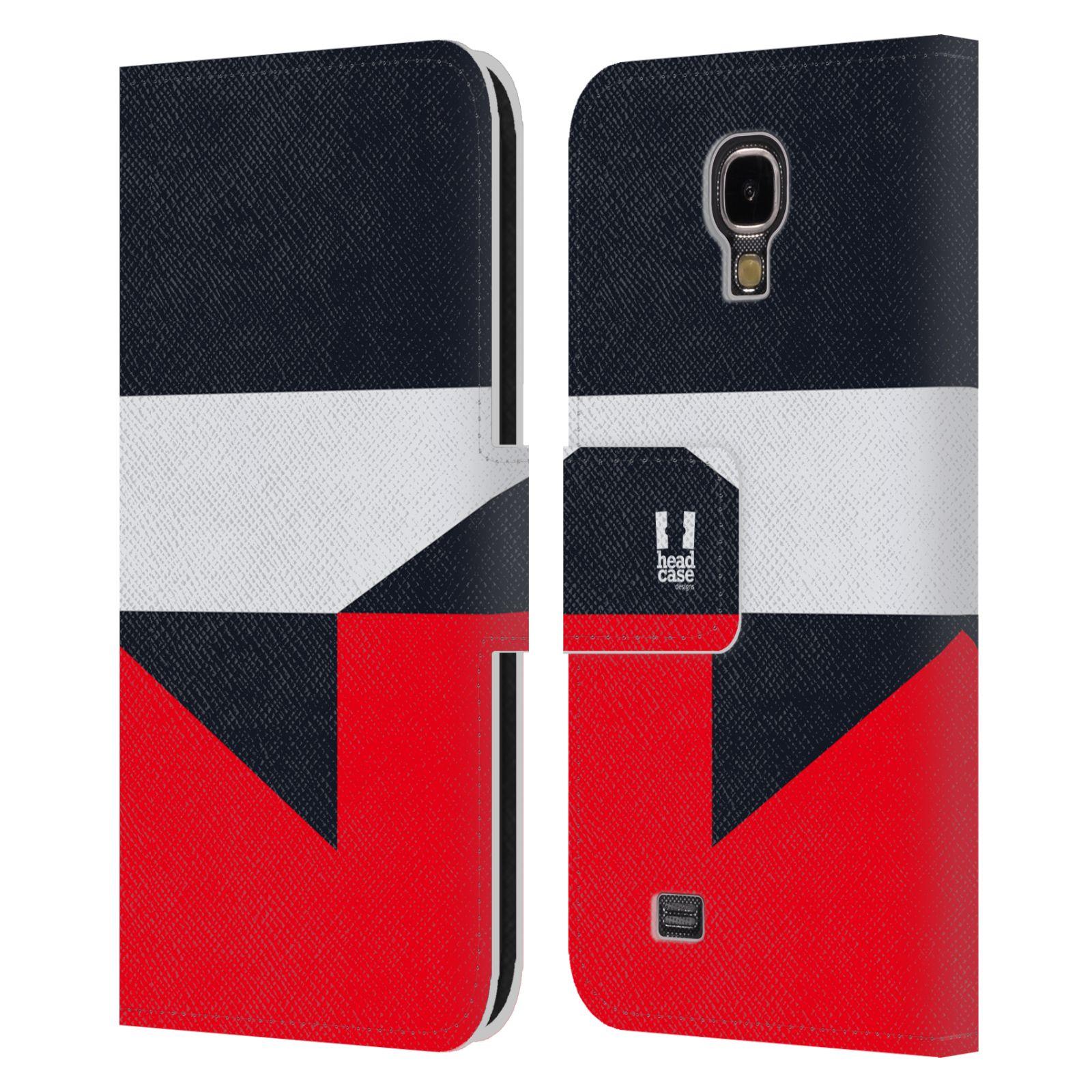 HEAD CASE Flipové pouzdro pro mobil Samsung Galaxy S4 I9500 barevné tvary černá a červená gejša
