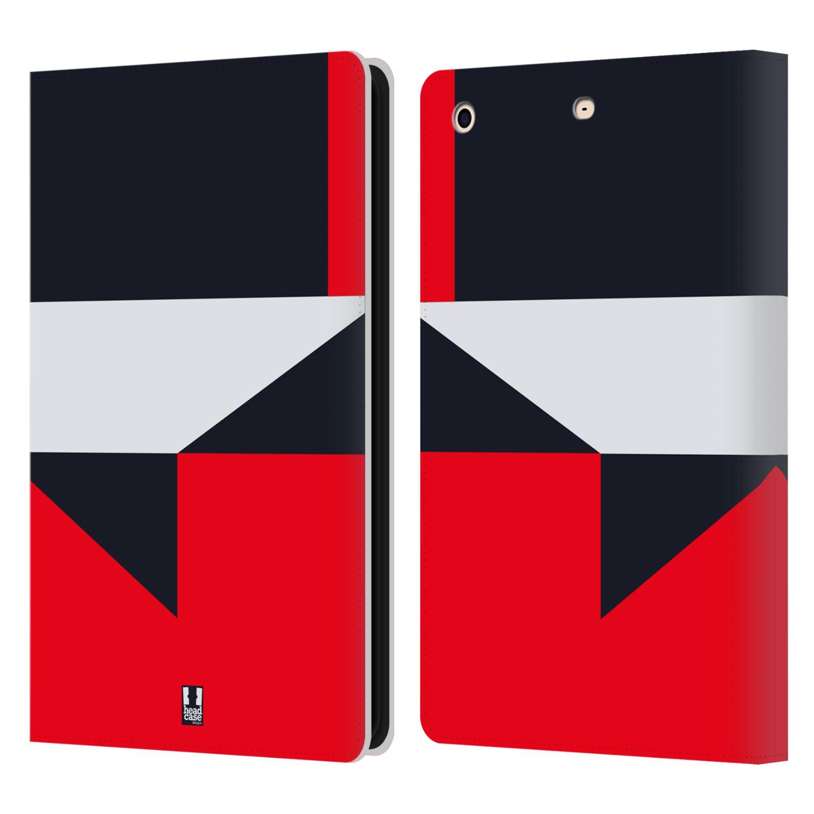 HEAD CASE Flipové pouzdro pro tablet Apple iPad mini barevné tvary černá a červená gejša