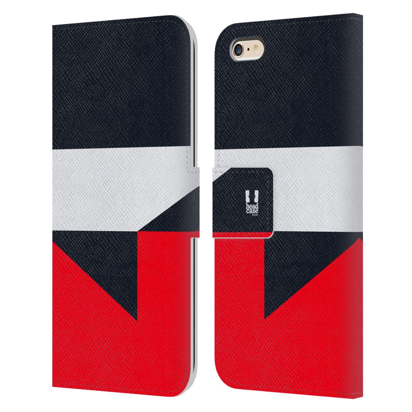 HEAD CASE Flipové pouzdro pro mobil Apple Iphone 6 PLUS/6S PLUS barevné tvary černá a červená gejša